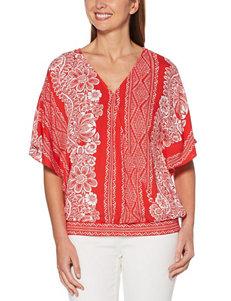 Rafaella Red Shirts & Blouses Strapless