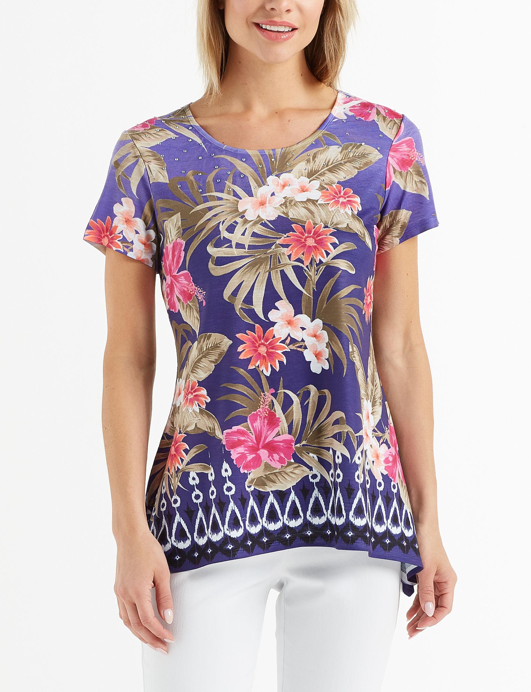 Ruby Road Purple Shirts & Blouses