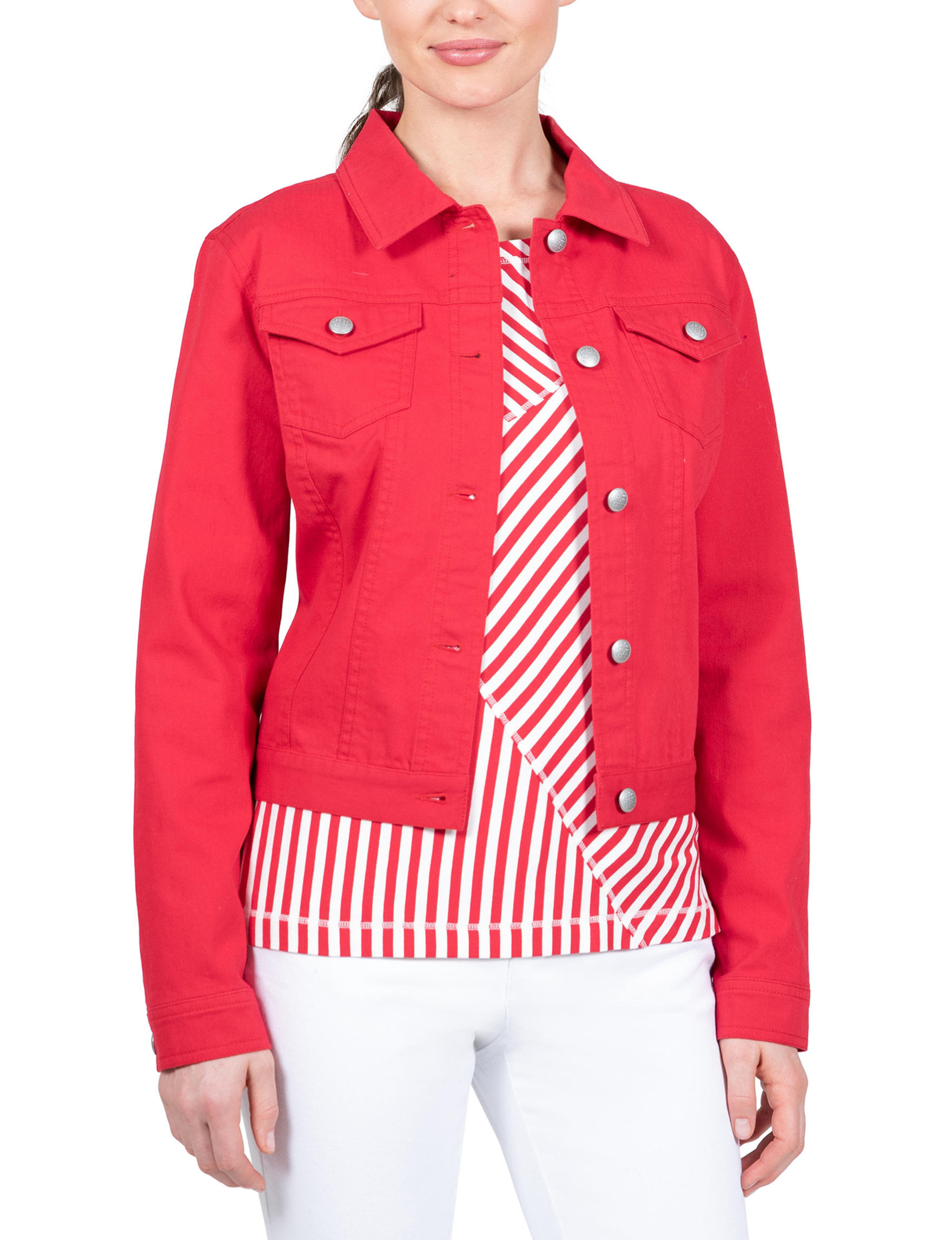 Skyes The Limit Red Lightweight Jackets & Blazers