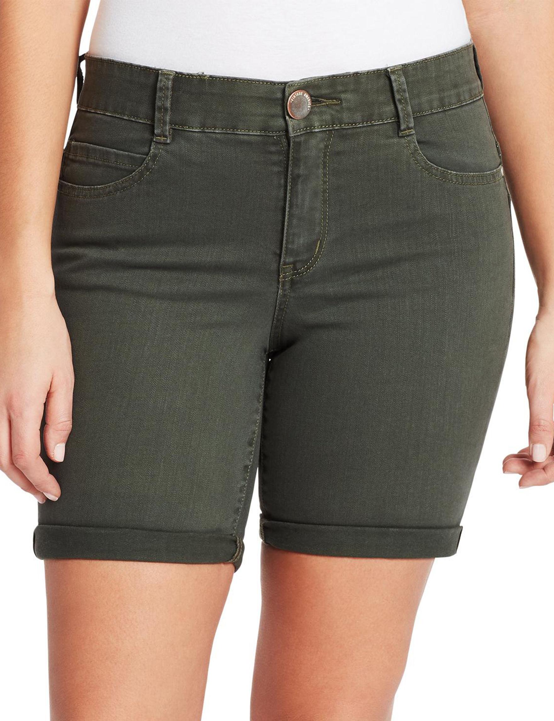 Vintage America Blues Black Denim Shorts