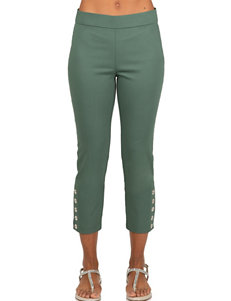 Skyes The Limit Green Capris & Crops Stretch