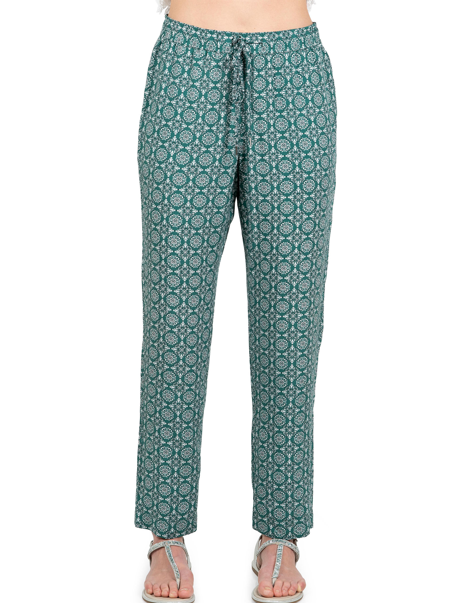 Skyes The Limit Green Multi Soft Pants Straight