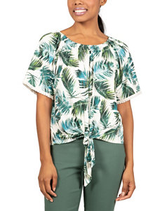 Skyes The Limit White / Green Shirts & Blouses