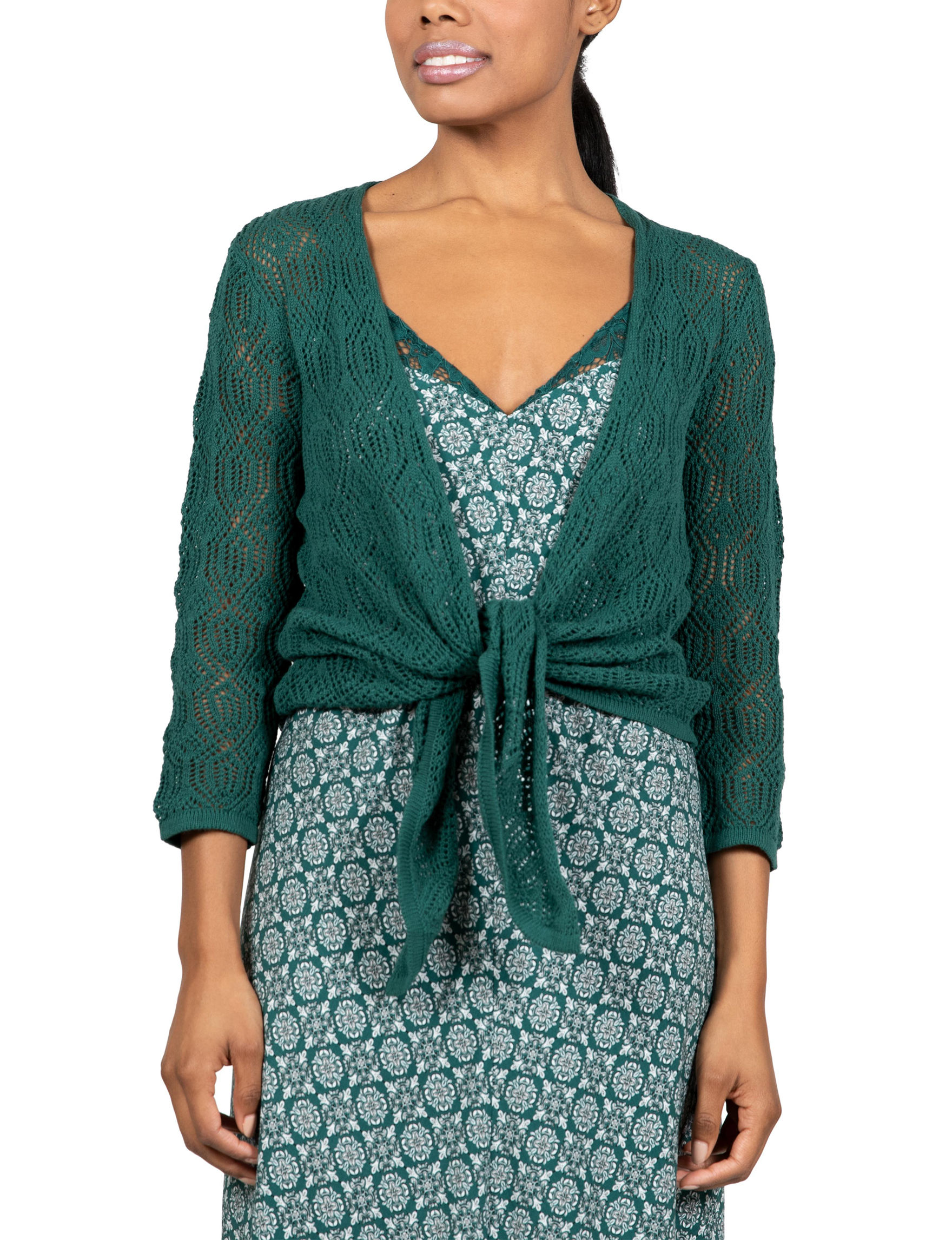 Skyes The Limit Green Cardigans
