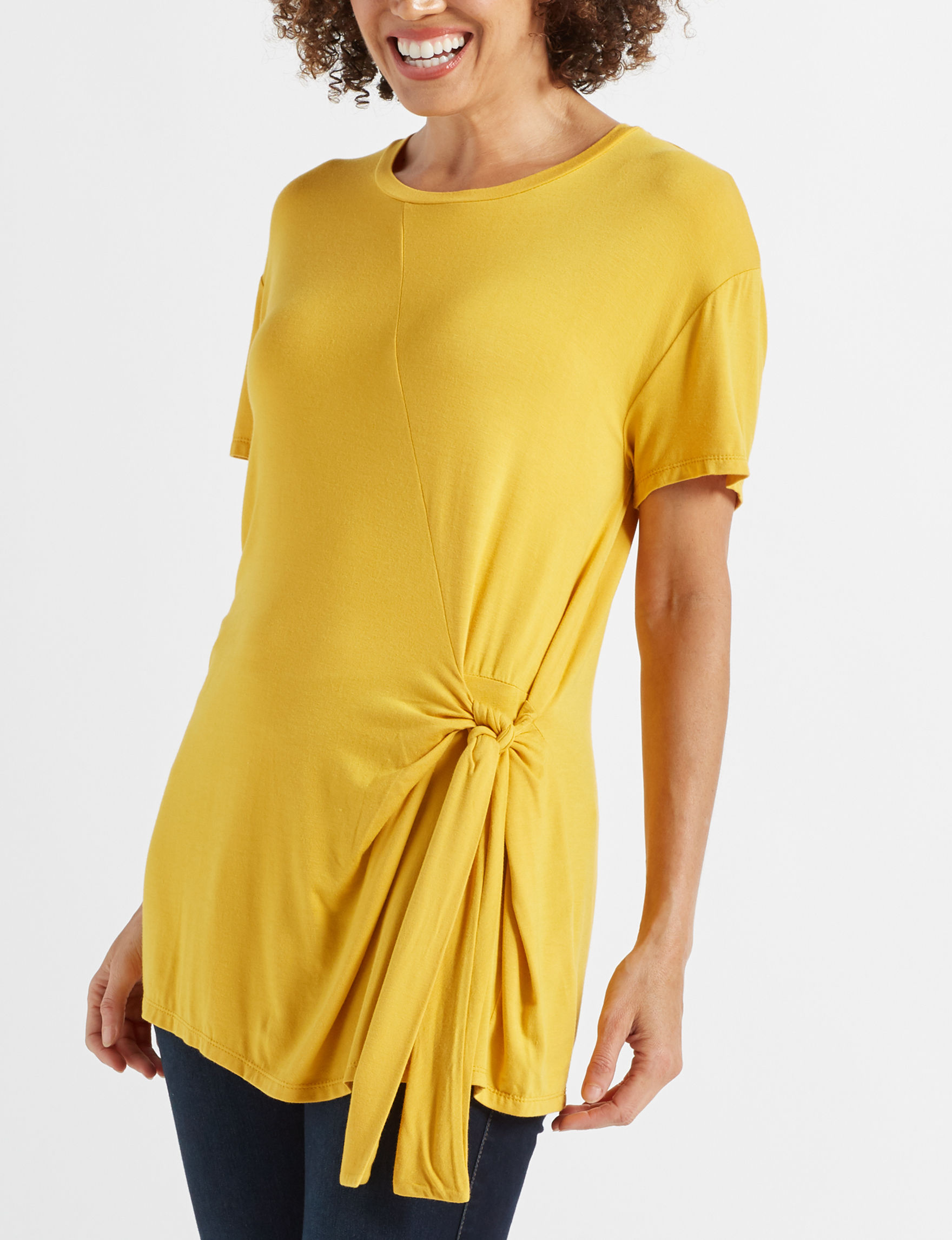 Alison Andrews Mustard Shirts & Blouses