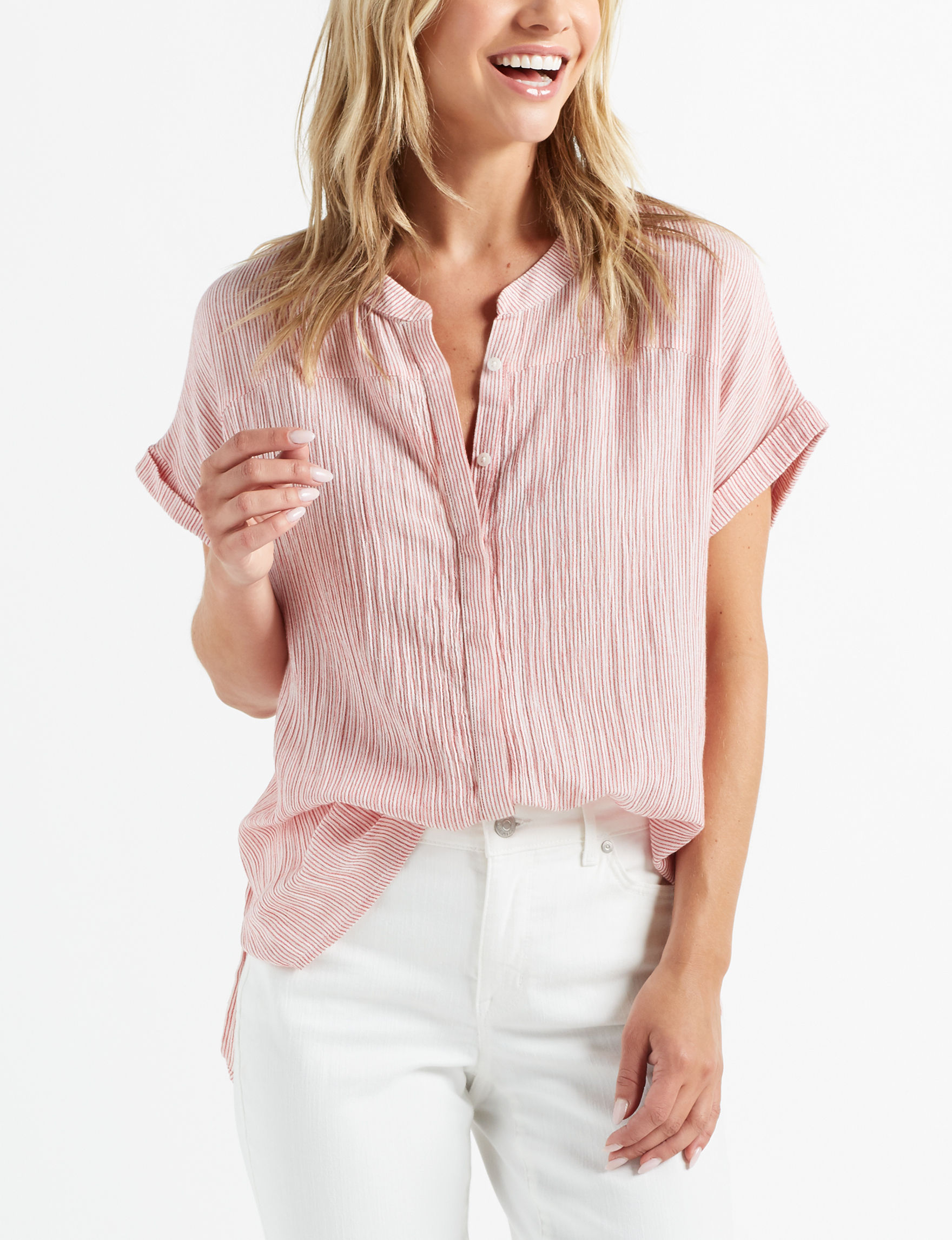 Nine West Red Shirts & Blouses