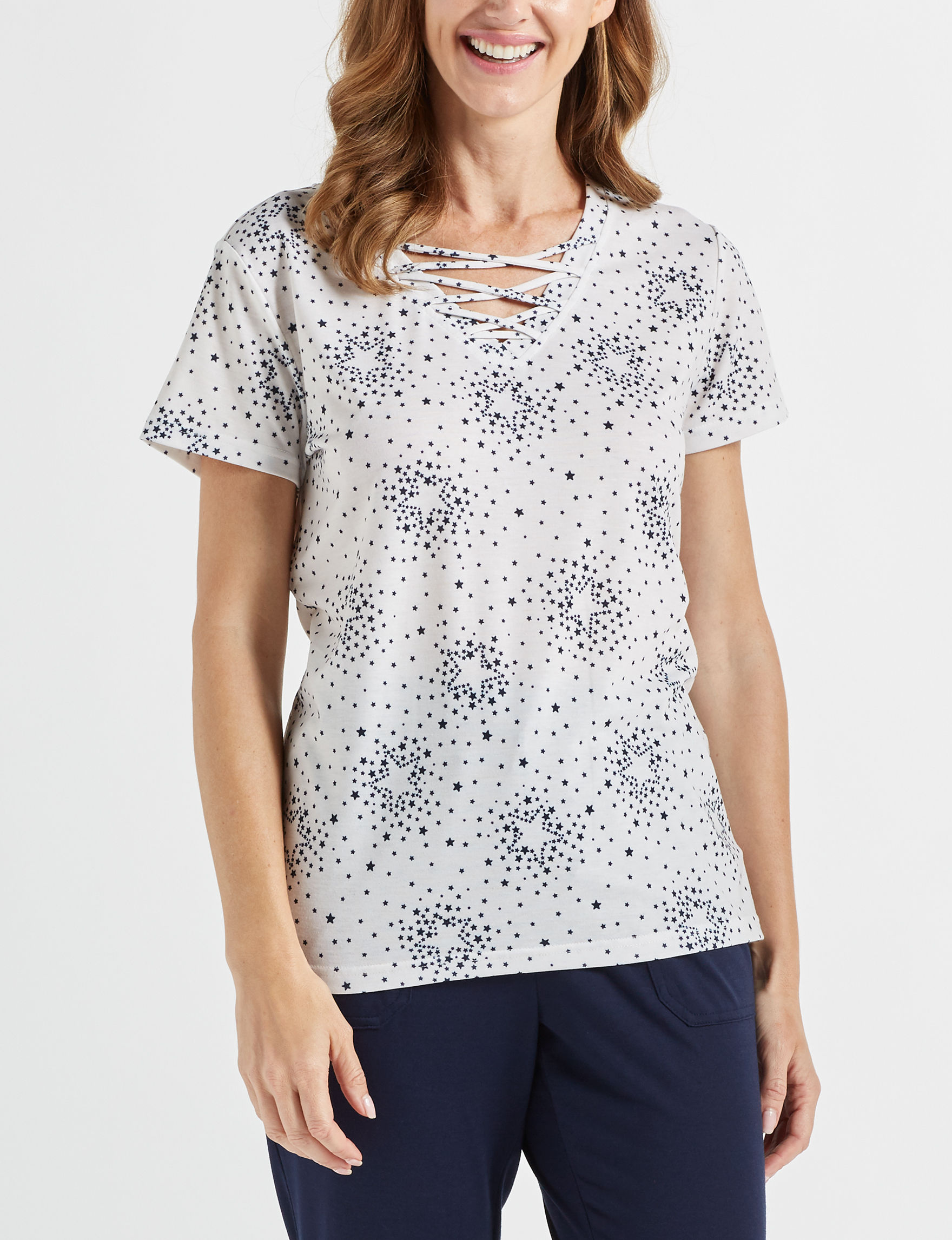 Onyx White Shirts & Blouses