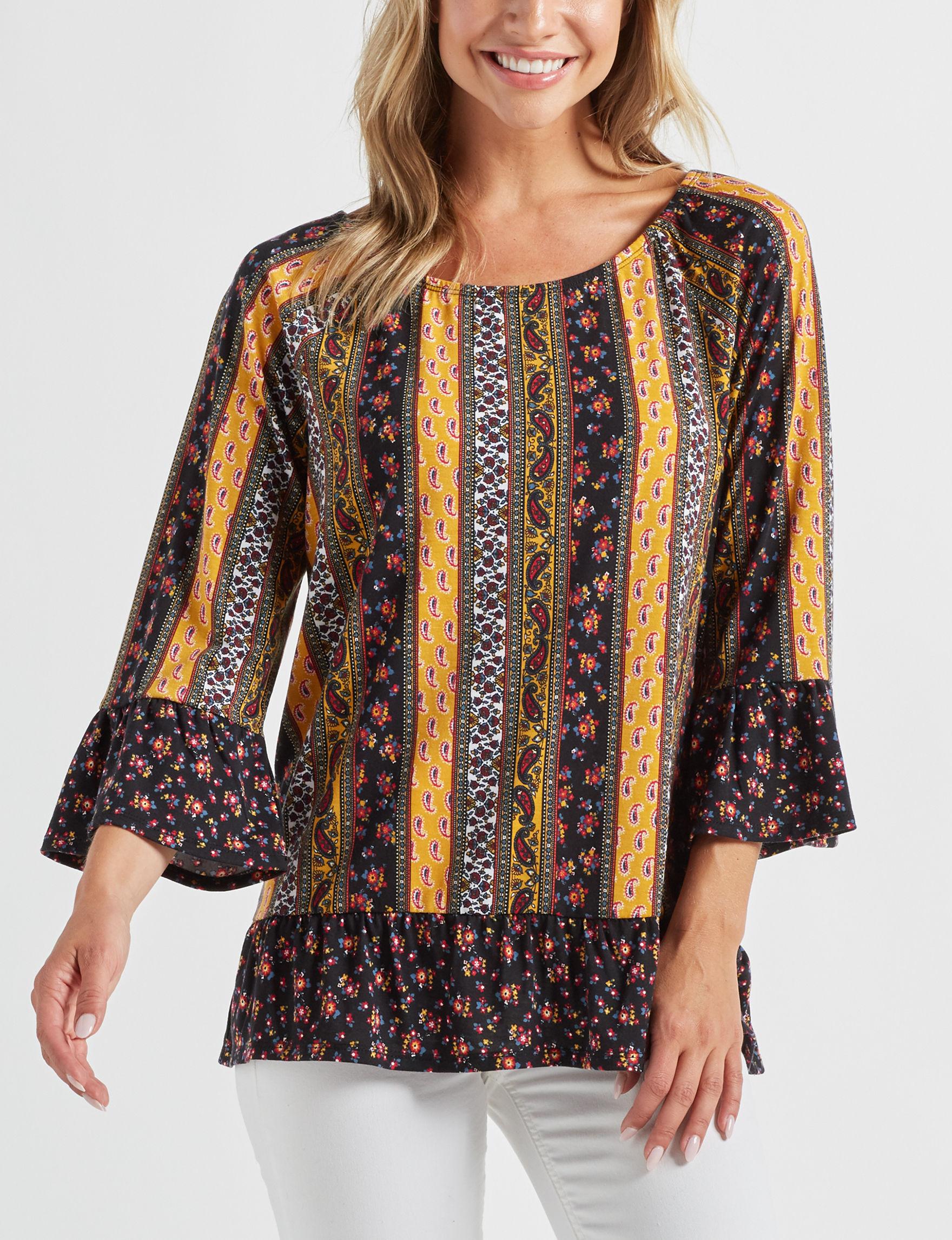 Alison Andrews Black Shirts & Blouses