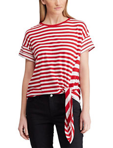 Chaps White / Red Shirts & Blouses