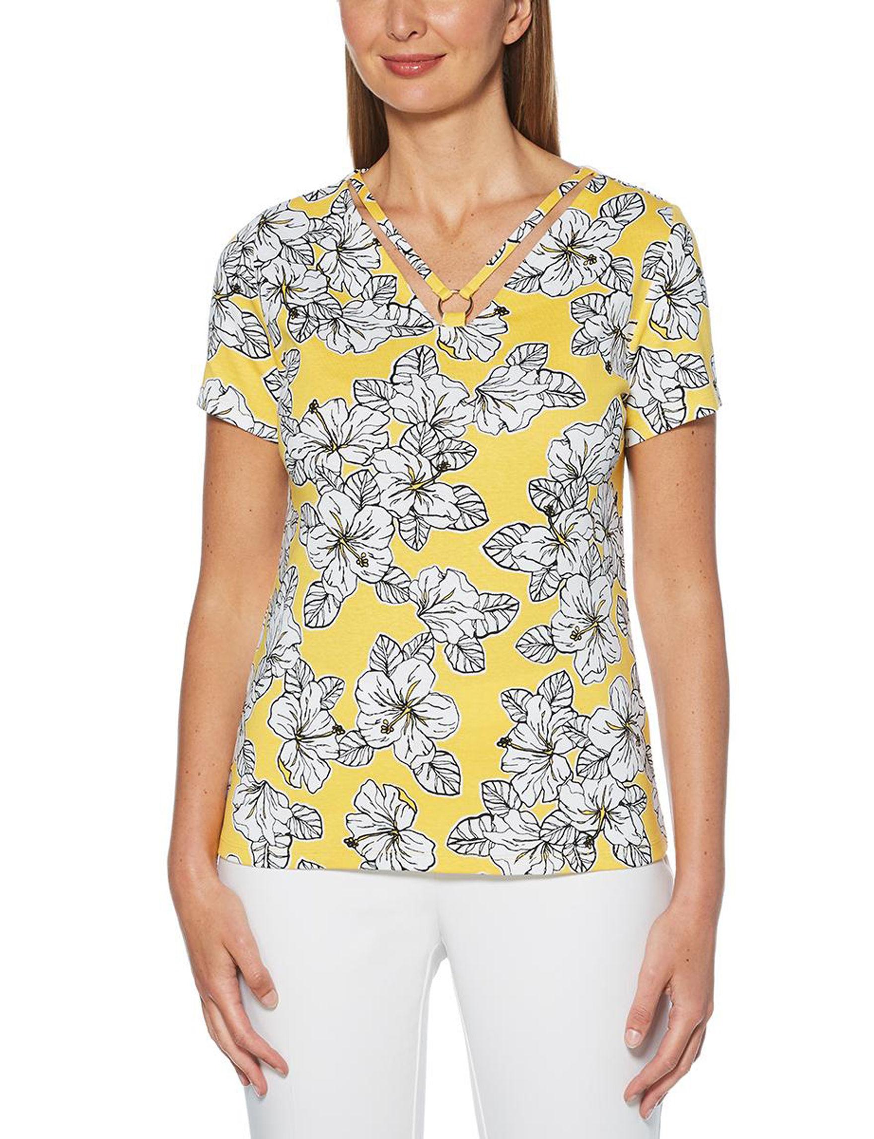 Rafaella Yellow Shirts & Blouses