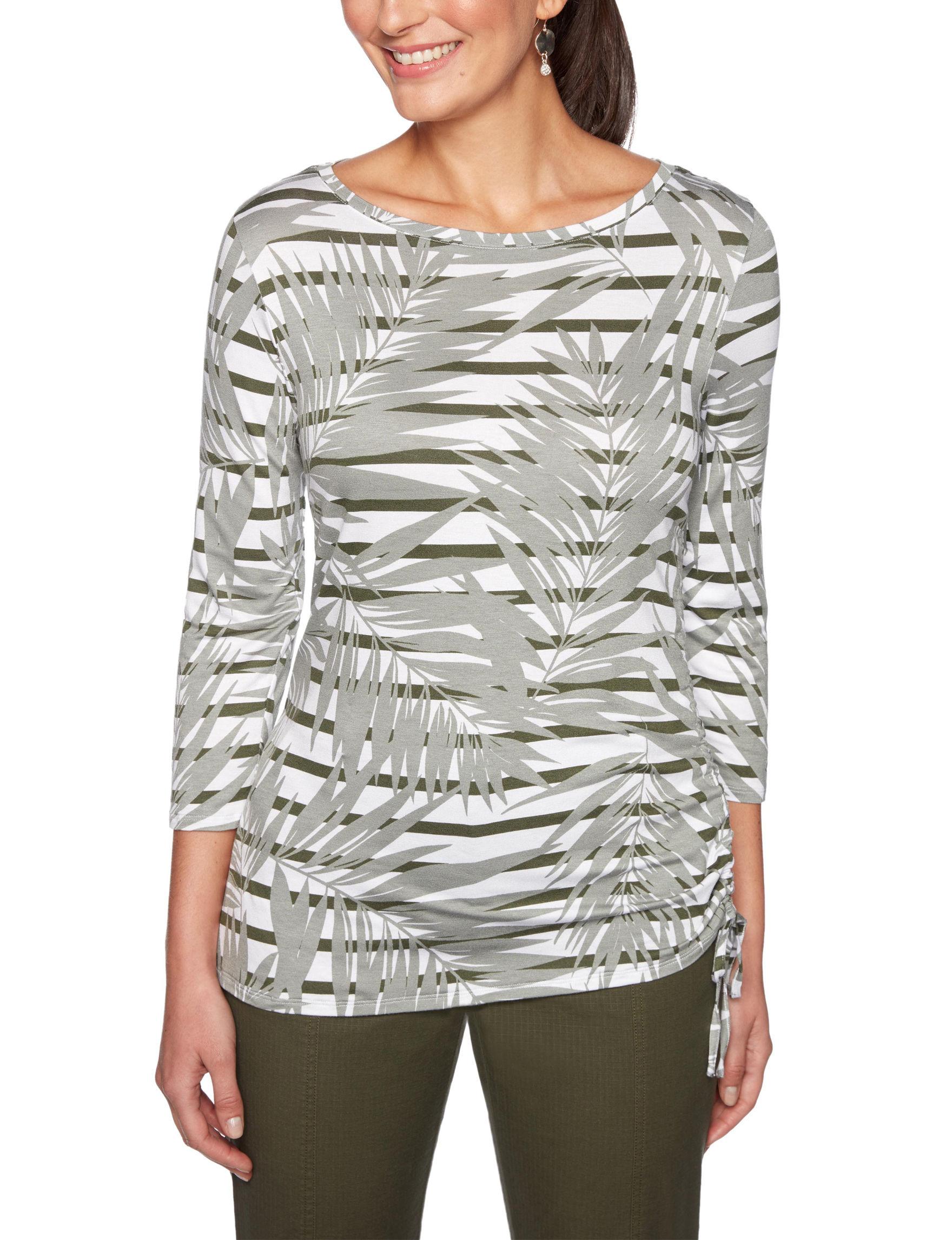 Ruby Road Grey Multi Shirts & Blouses