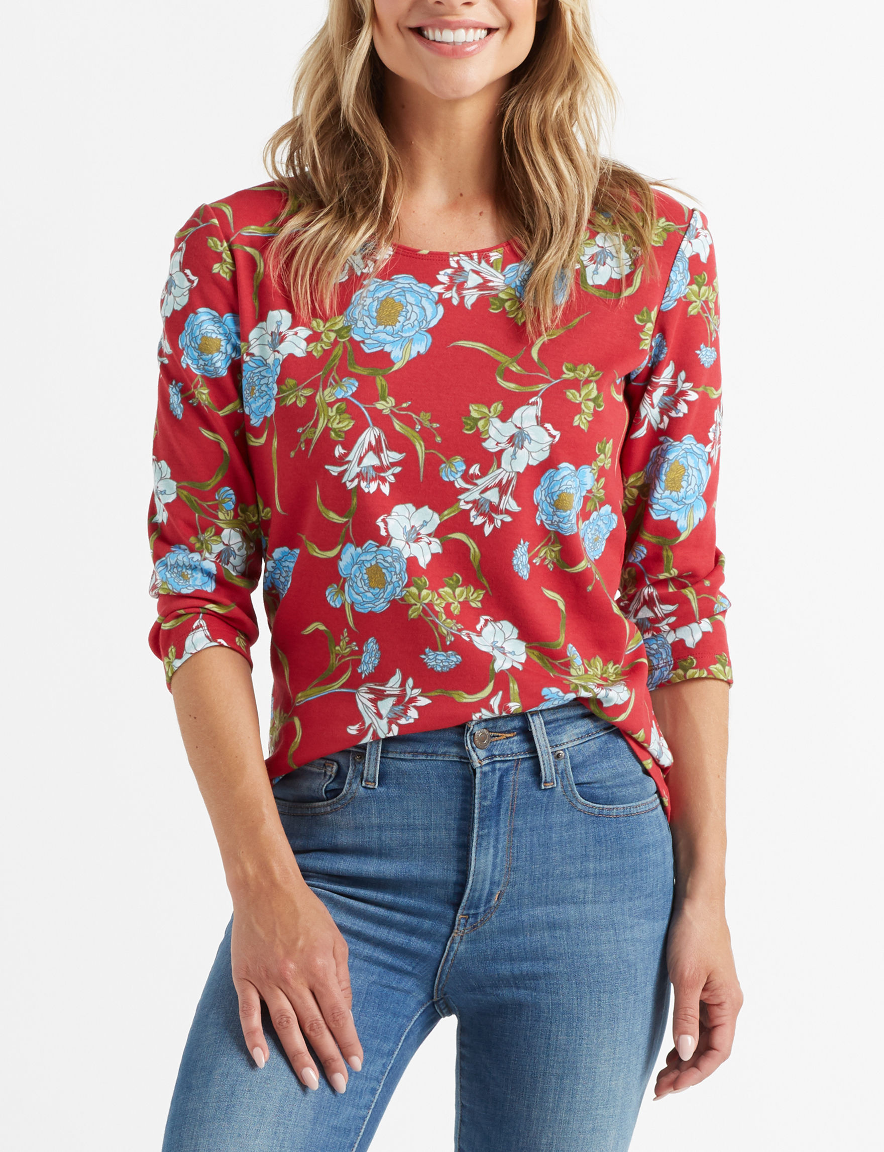Rebecca Malone Red Shirts & Blouses Tees & Tanks