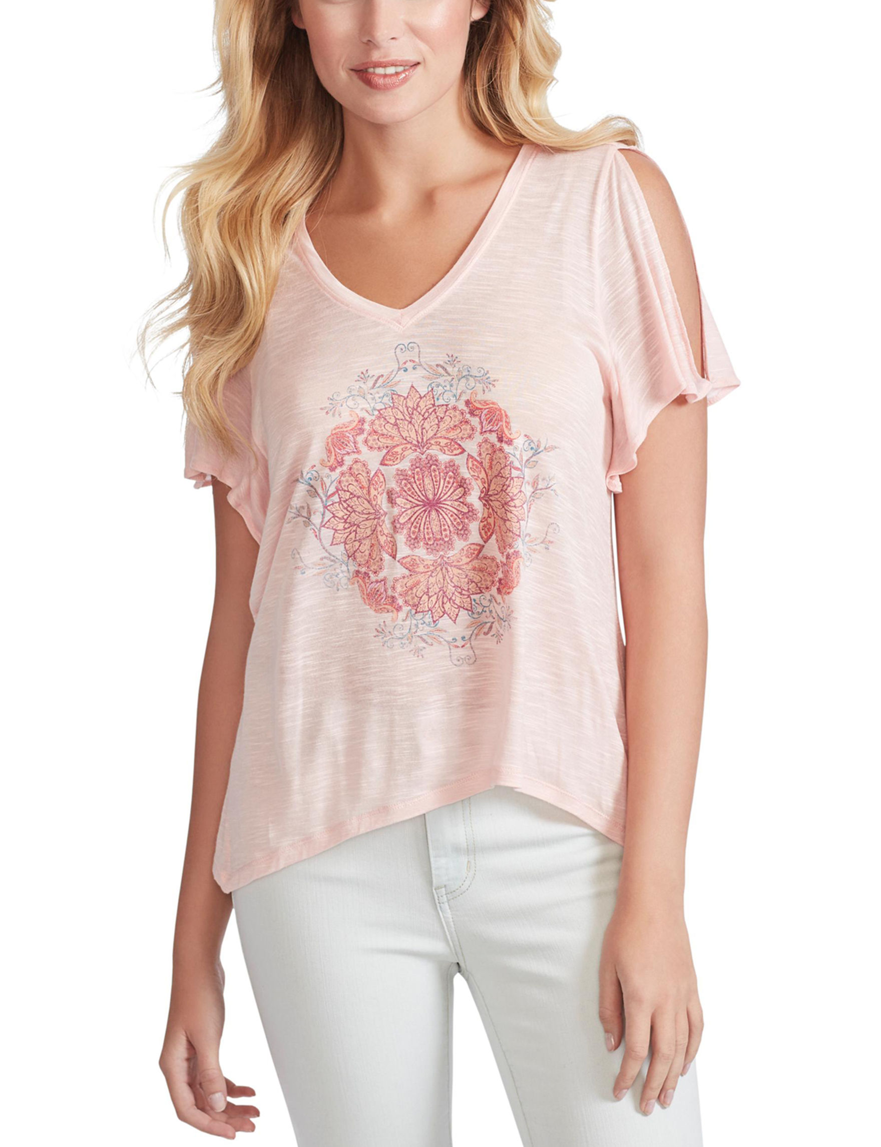 Jessica Simpson Peach Shirts & Blouses