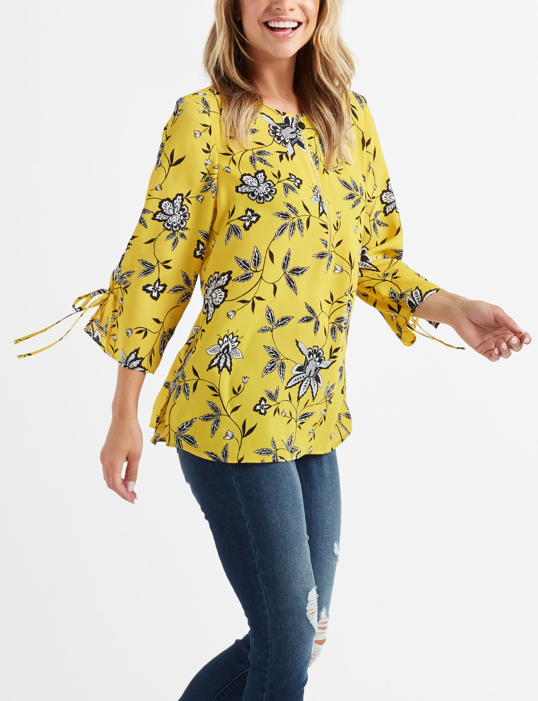 Counterparts Yellow Shirts & Blouses