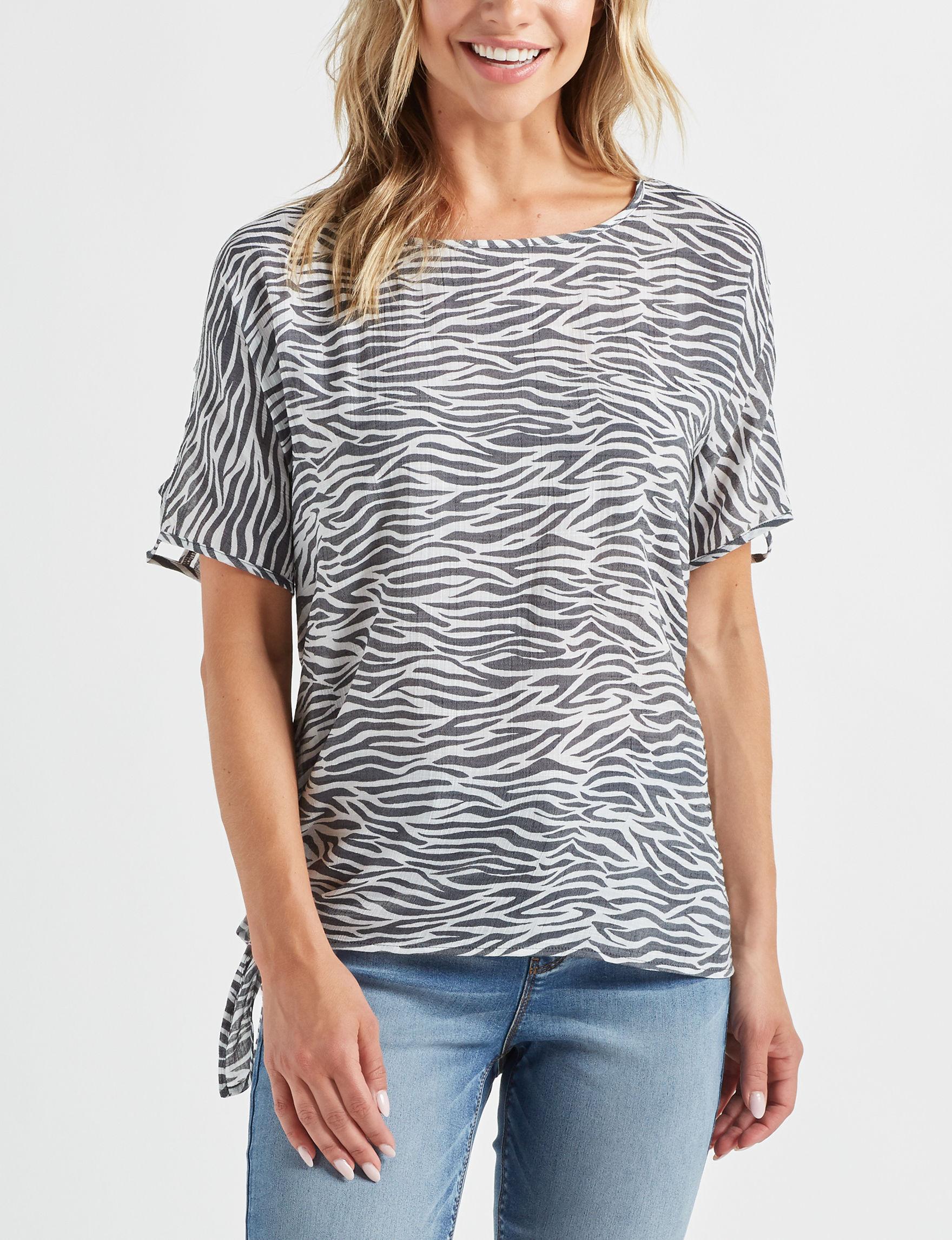 Como Vintage White / Black Shirts & Blouses