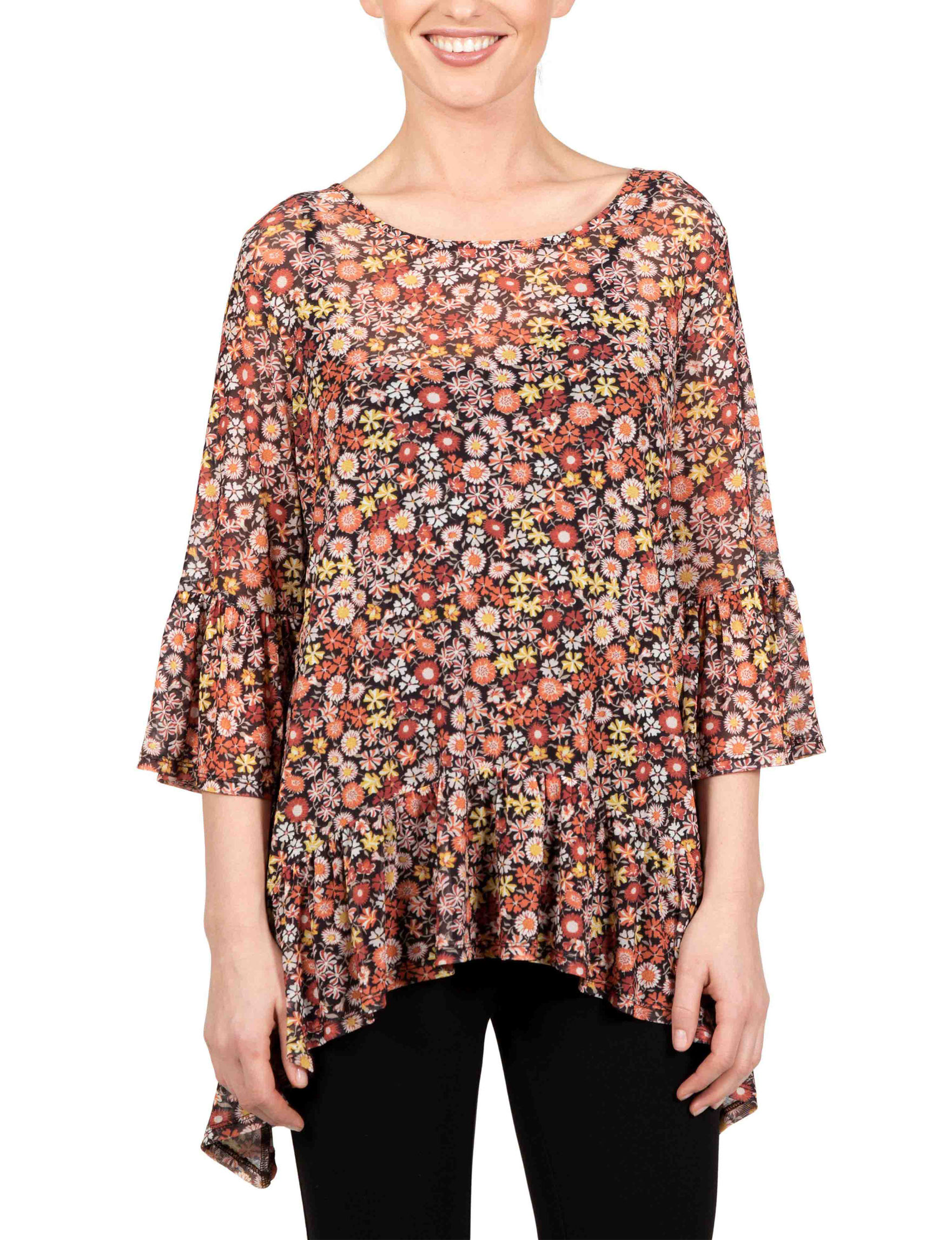 Skyes The Limit Black Multi Everyday & Casual Shirts & Blouses