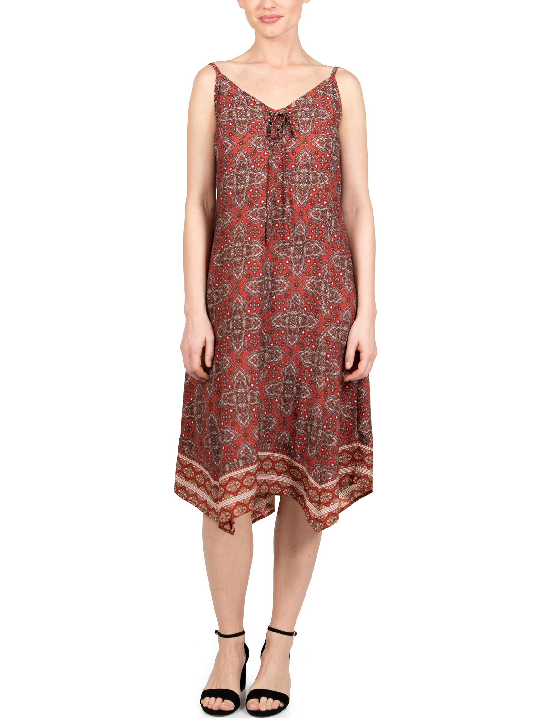 Skyes The Limit Red Multi Everyday & Casual