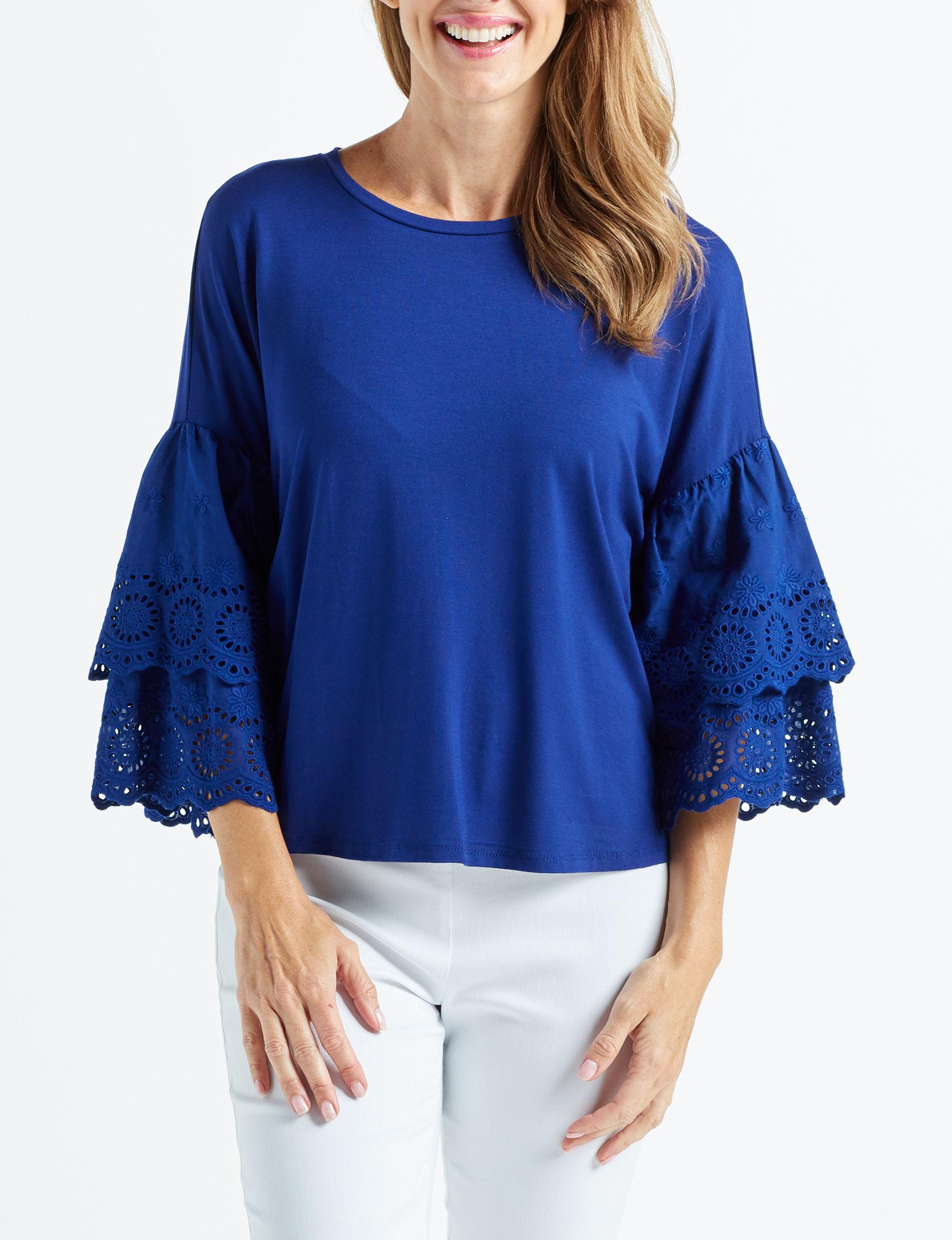 Blush Collection Royal Blue Shirts & Blouses