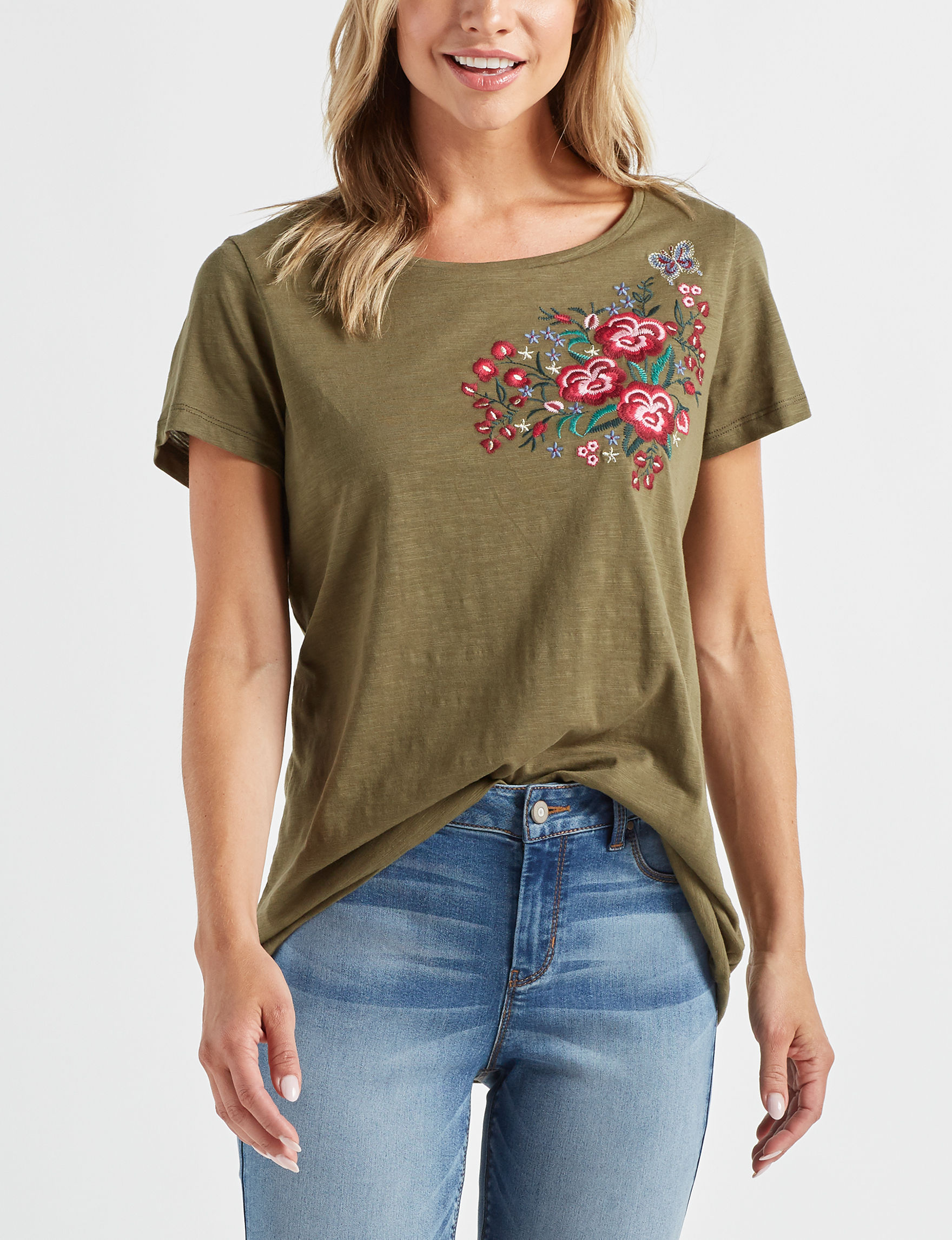 With Love Olive Shirts & Blouses