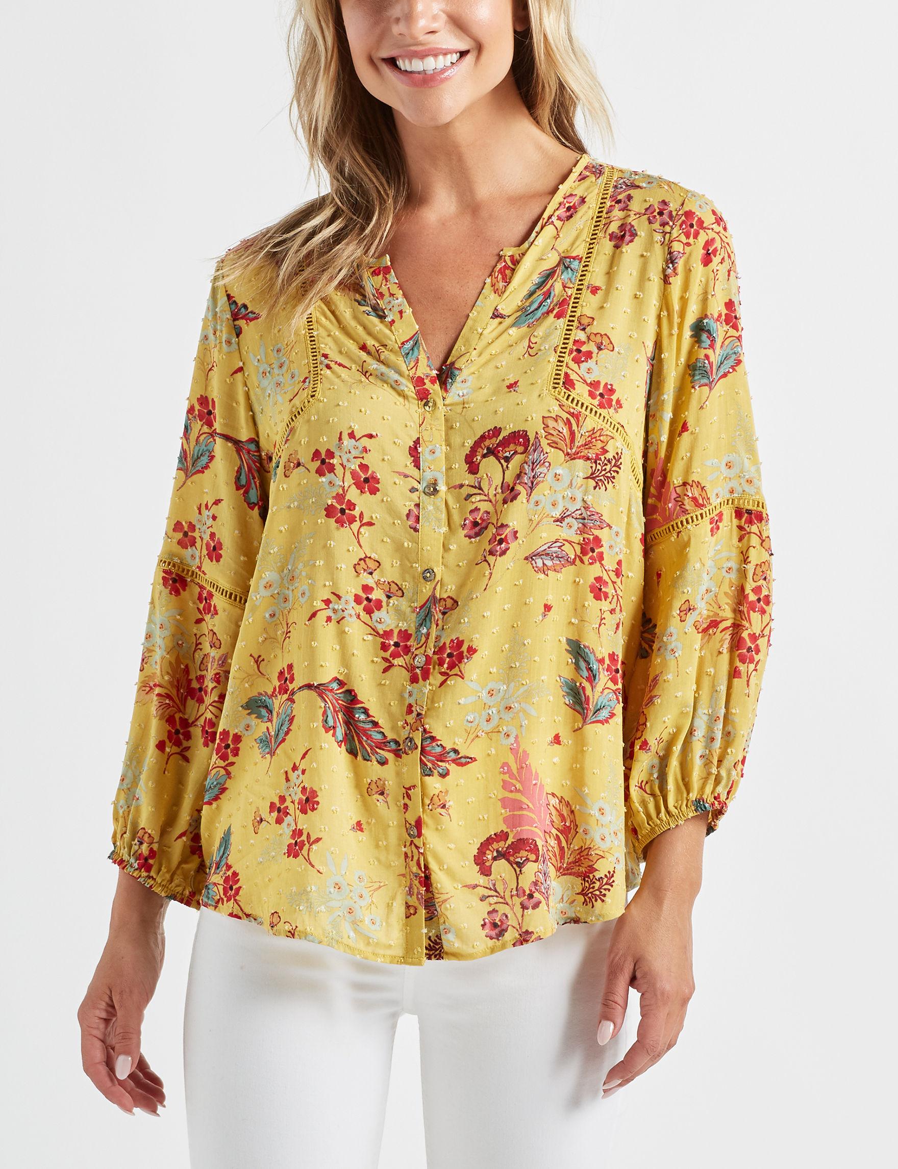 John Paul Richard Yellow Shirts & Blouses
