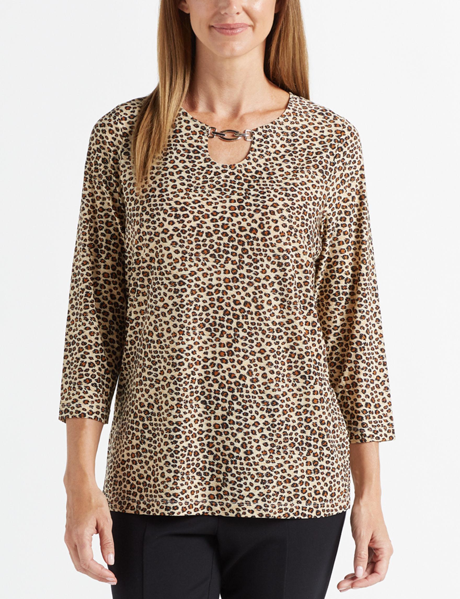 Rebecca Malone Leopard Shirts & Blouses