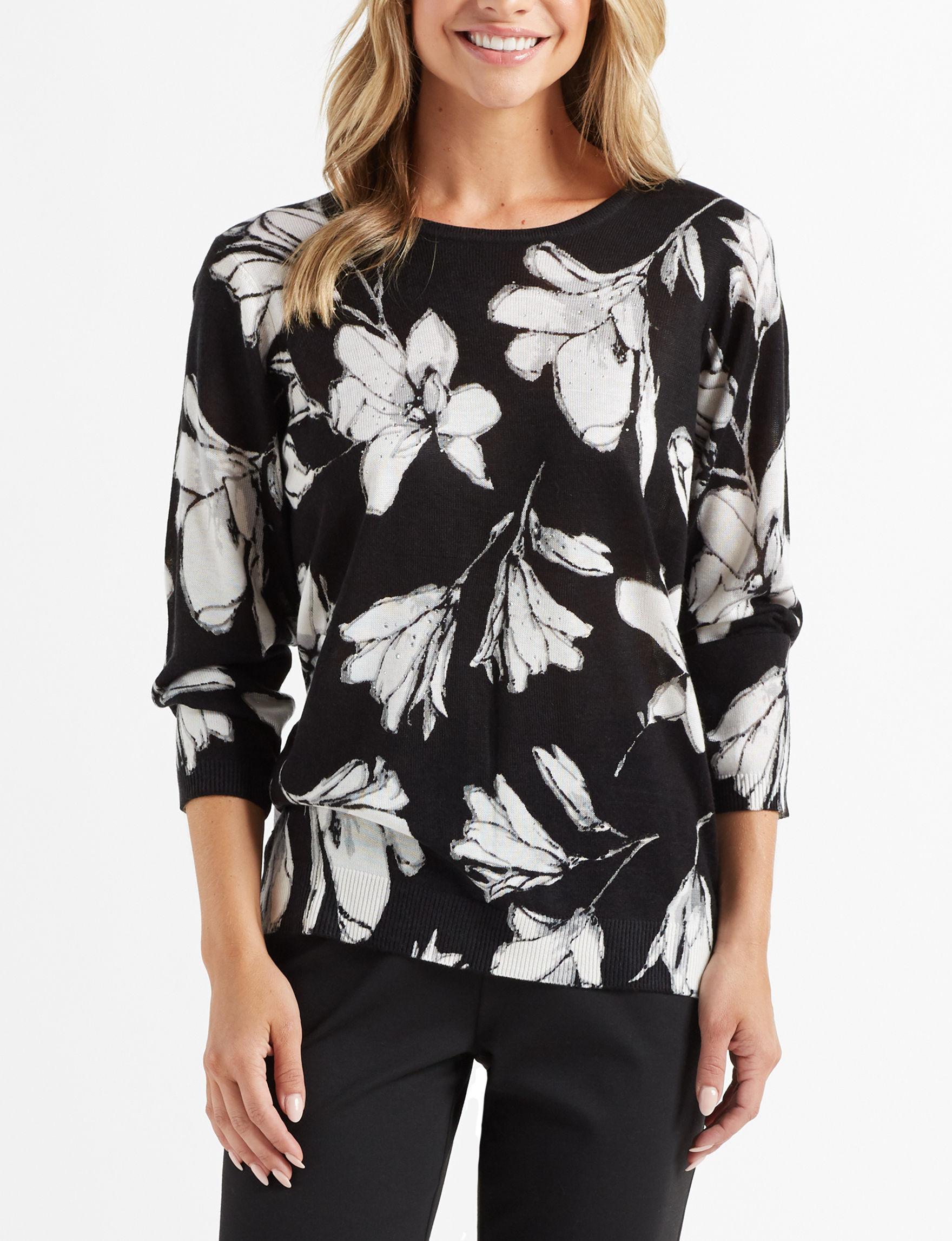 Cathy Daniels Black Floral