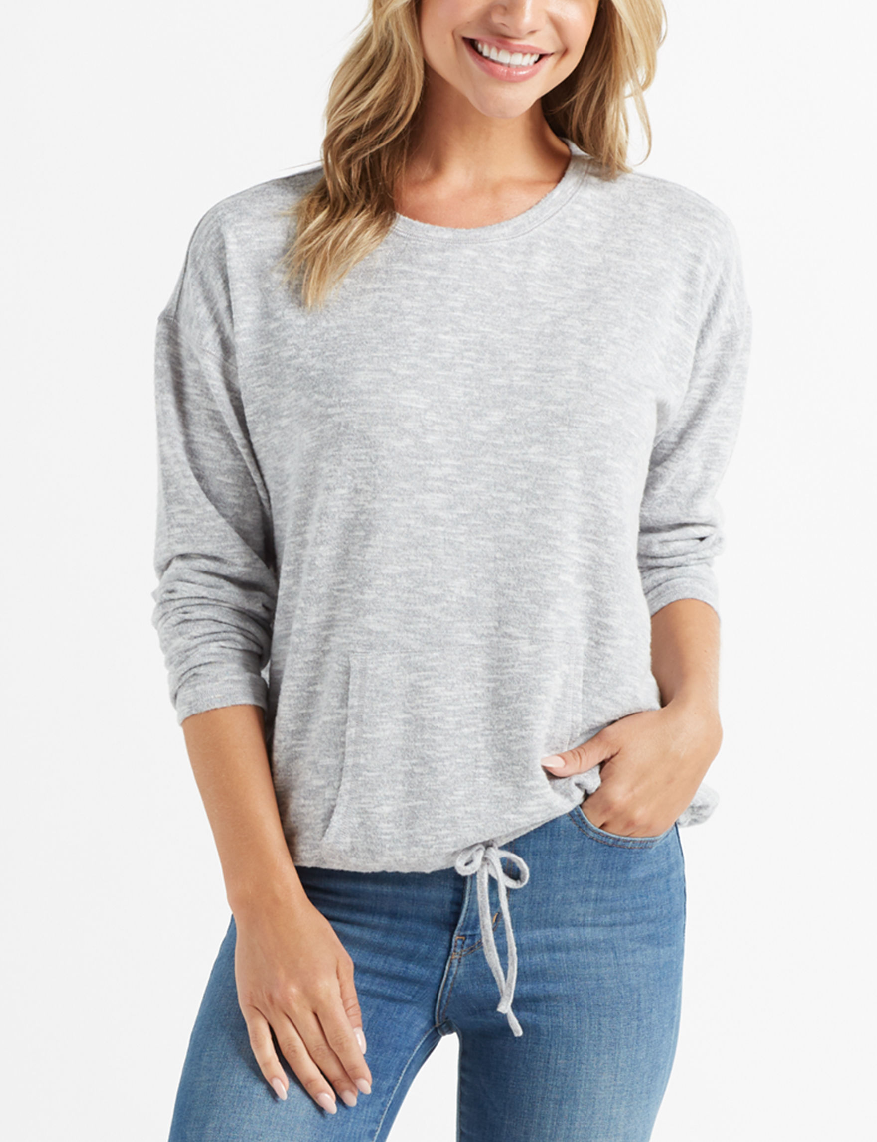 Signature Studio Heather Grey Shirts & Blouses