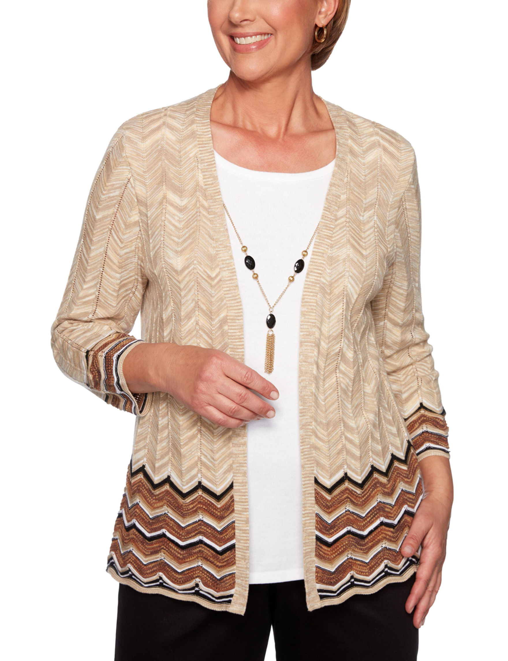 Alfred Dunner Oatmeal Shirts & Blouses