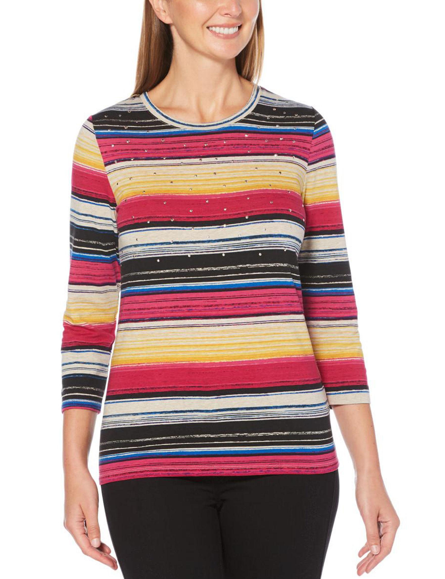 Rafaella Pink / Multi Shirts & Blouses