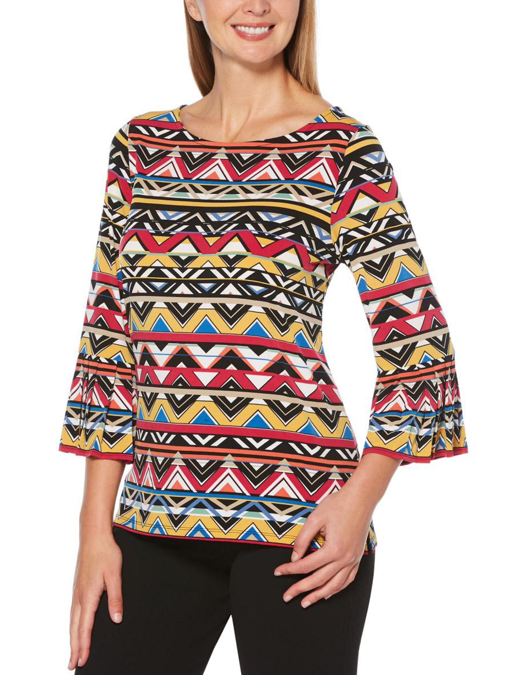 Rafaella Yellow / Multi Shirts & Blouses