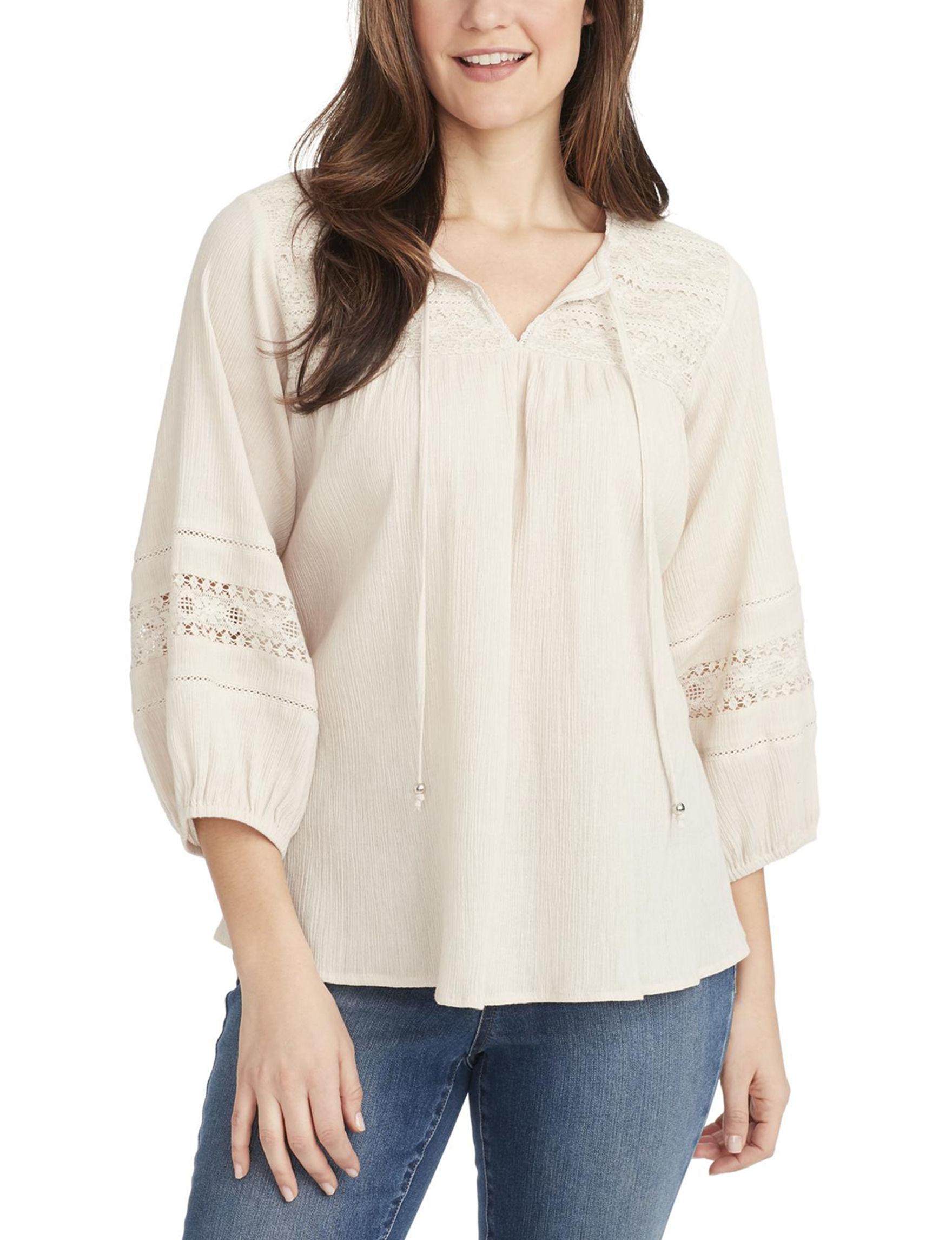 Bandolino Cream Shirts & Blouses