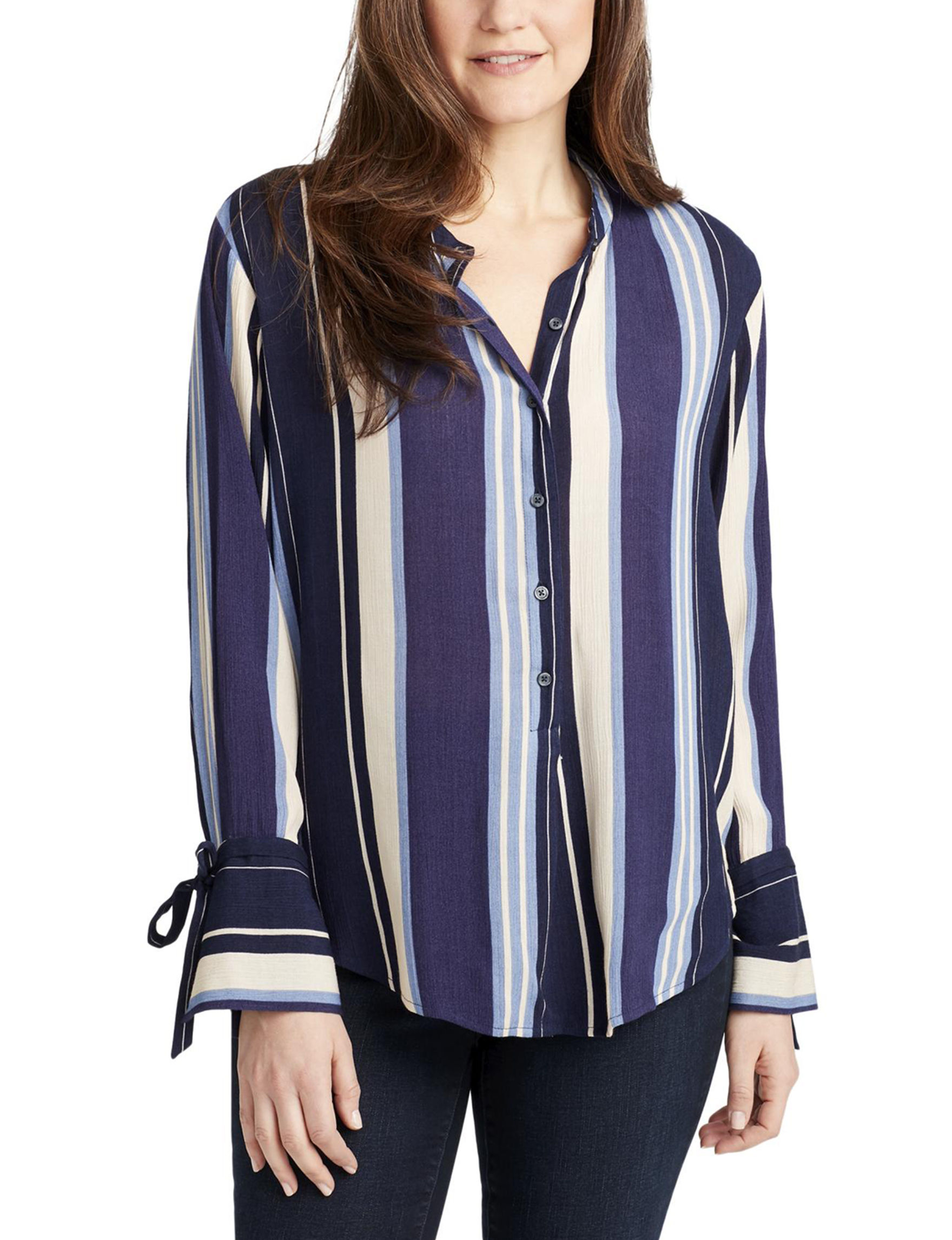 Nine West Blue Shirts & Blouses