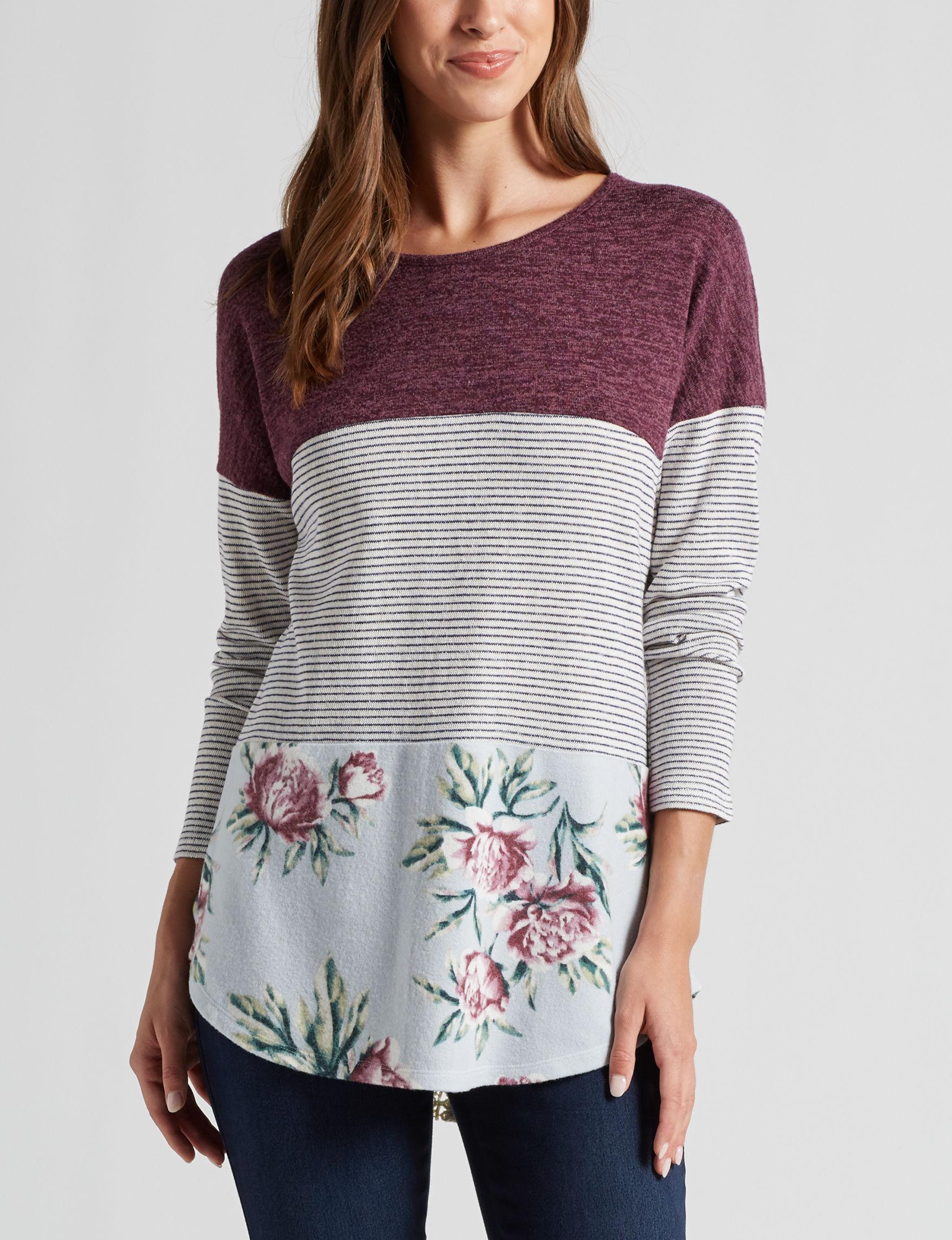 Signature Studio Purple Multi Shirts & Blouses