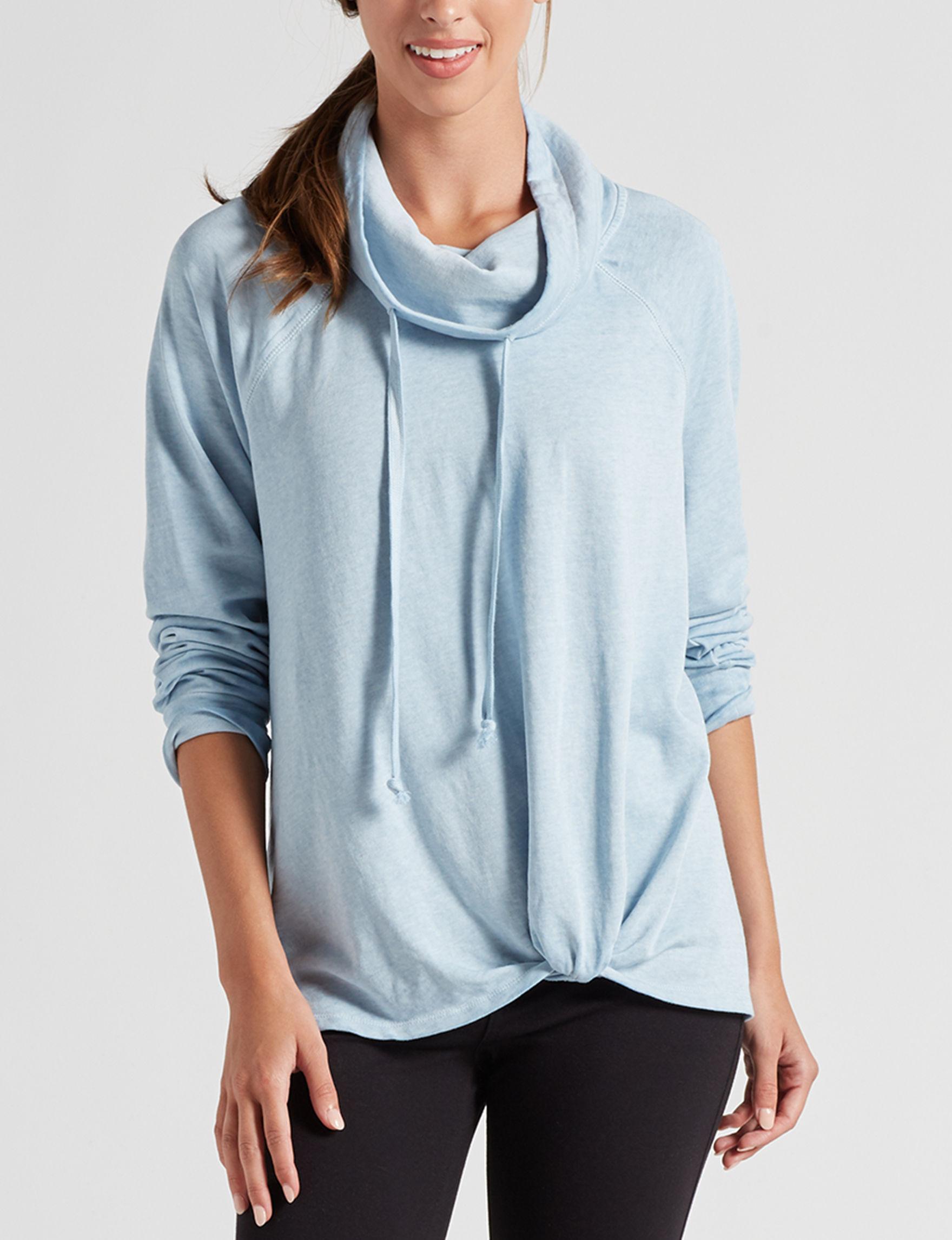 Signature Studio Light Blue Pull-overs Shirts & Blouses