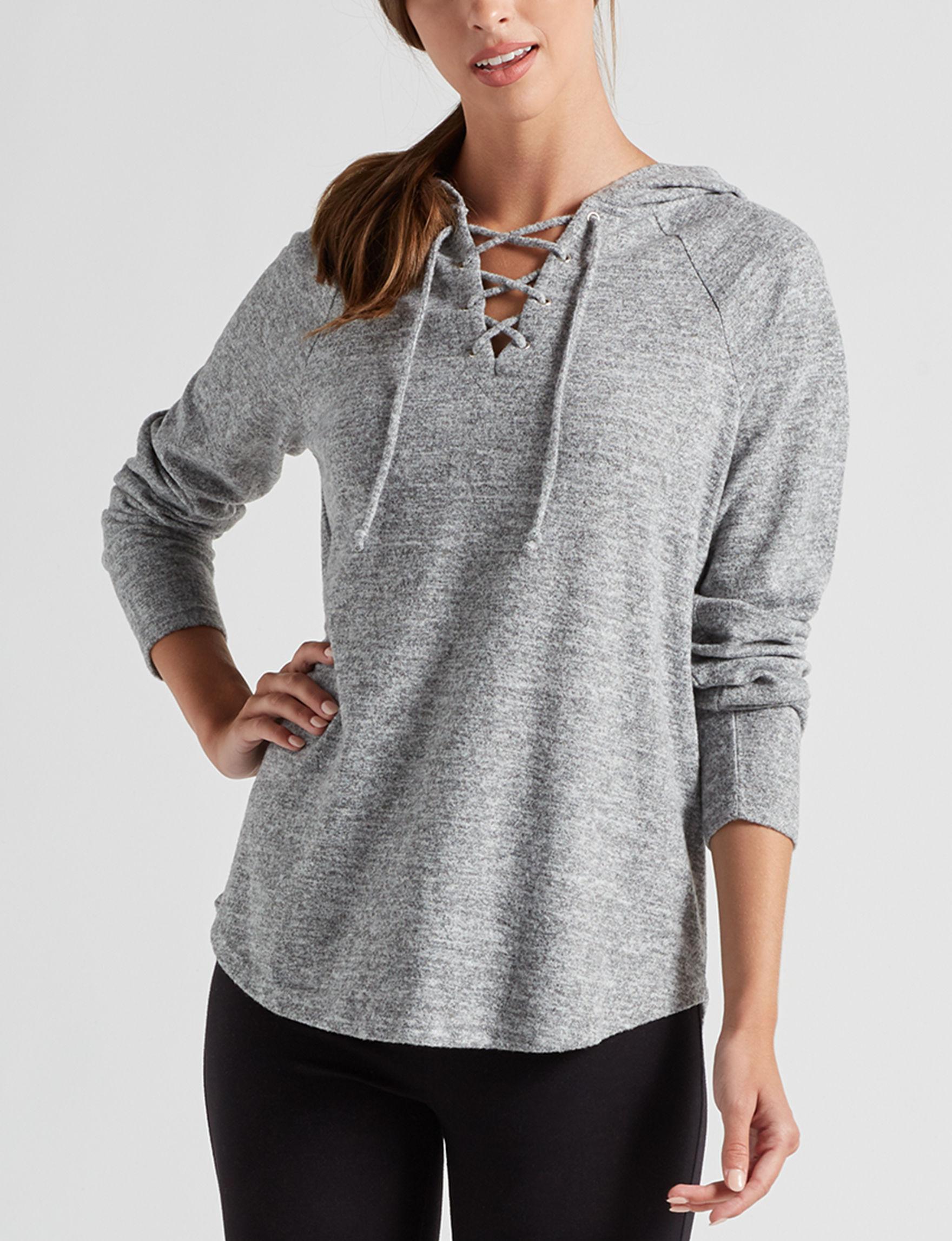 Isela Grey Shirts & Blouses
