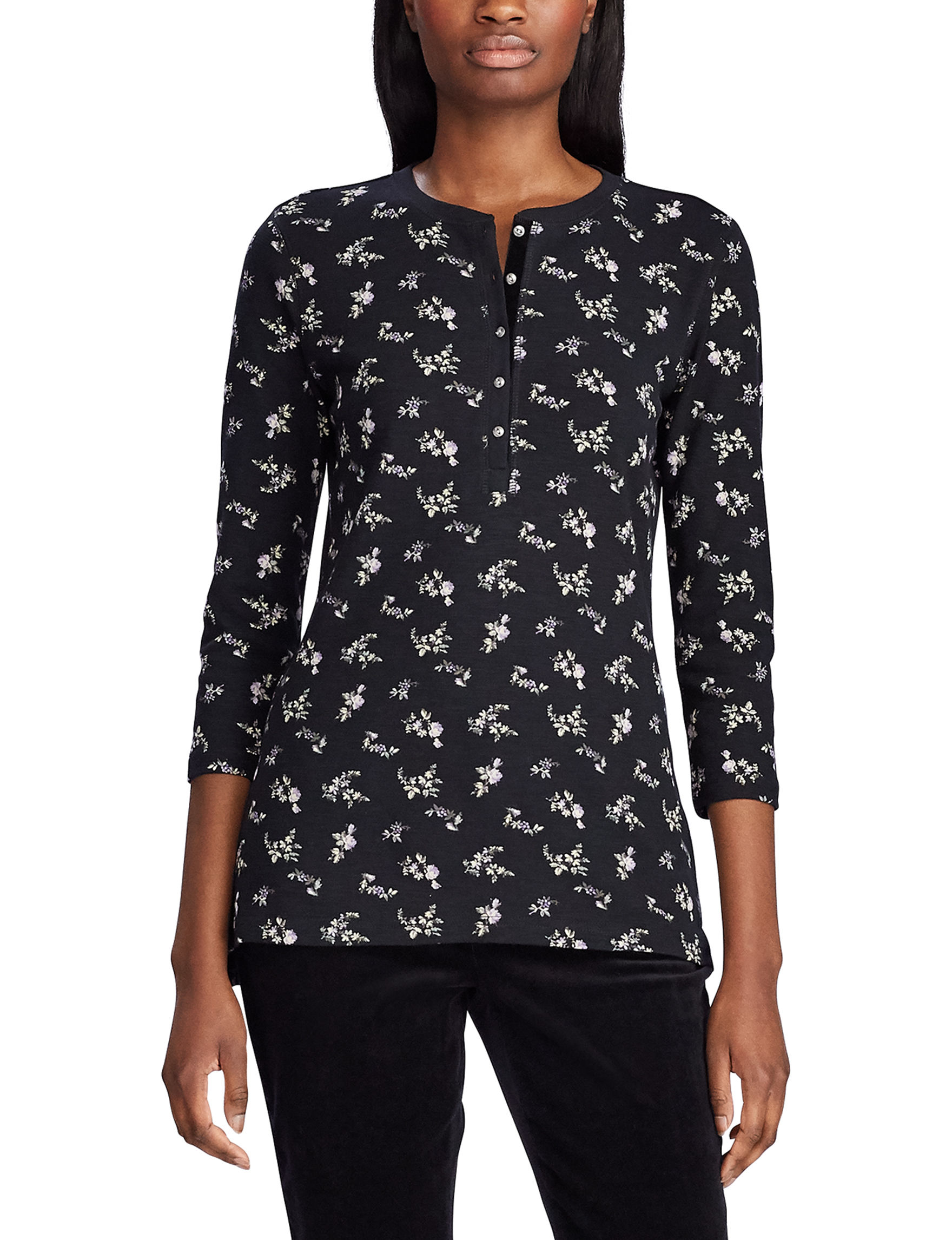 Chaps Lilac / Black Shirts & Blouses