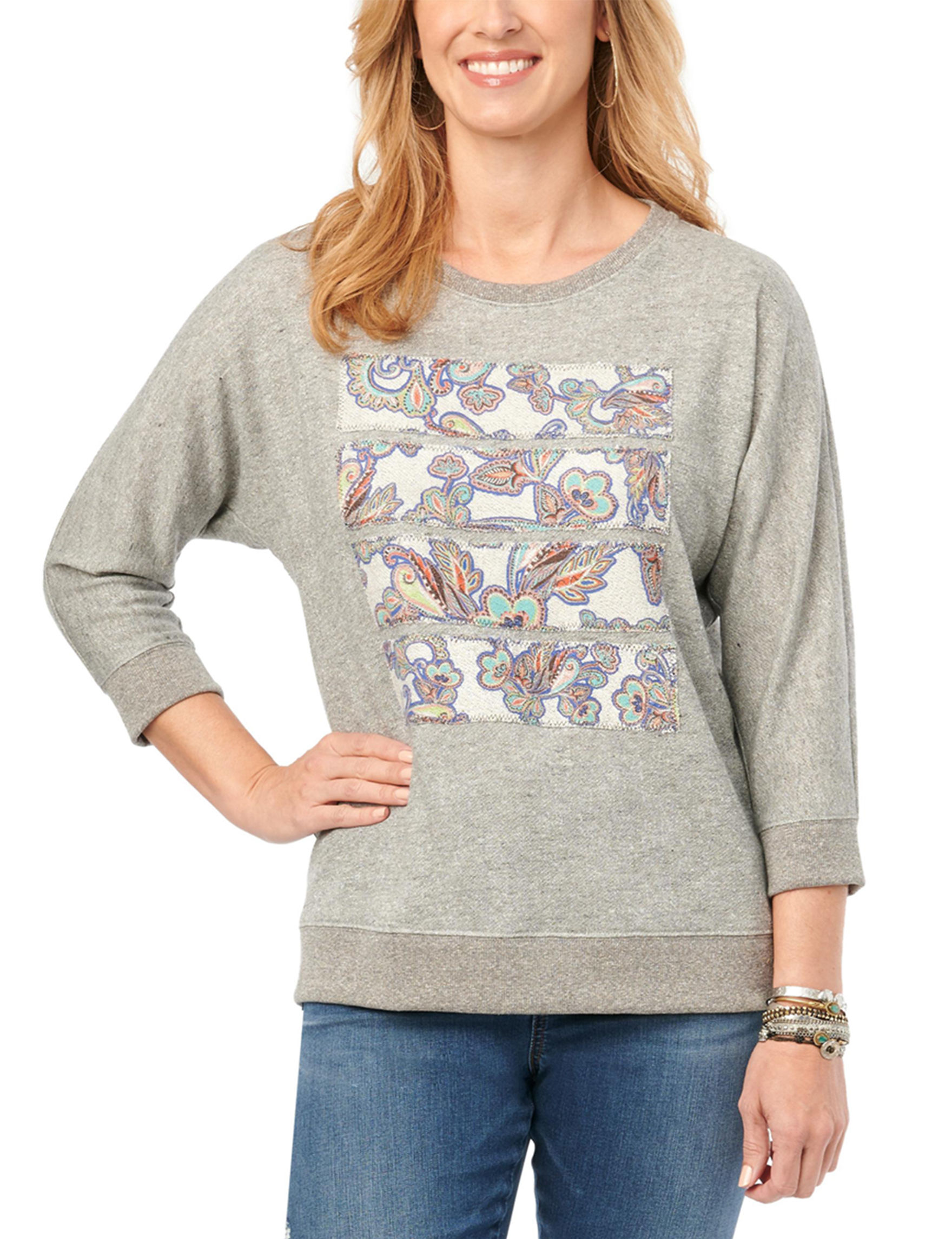 Democracy Heather Grey Pull-overs Relaxed