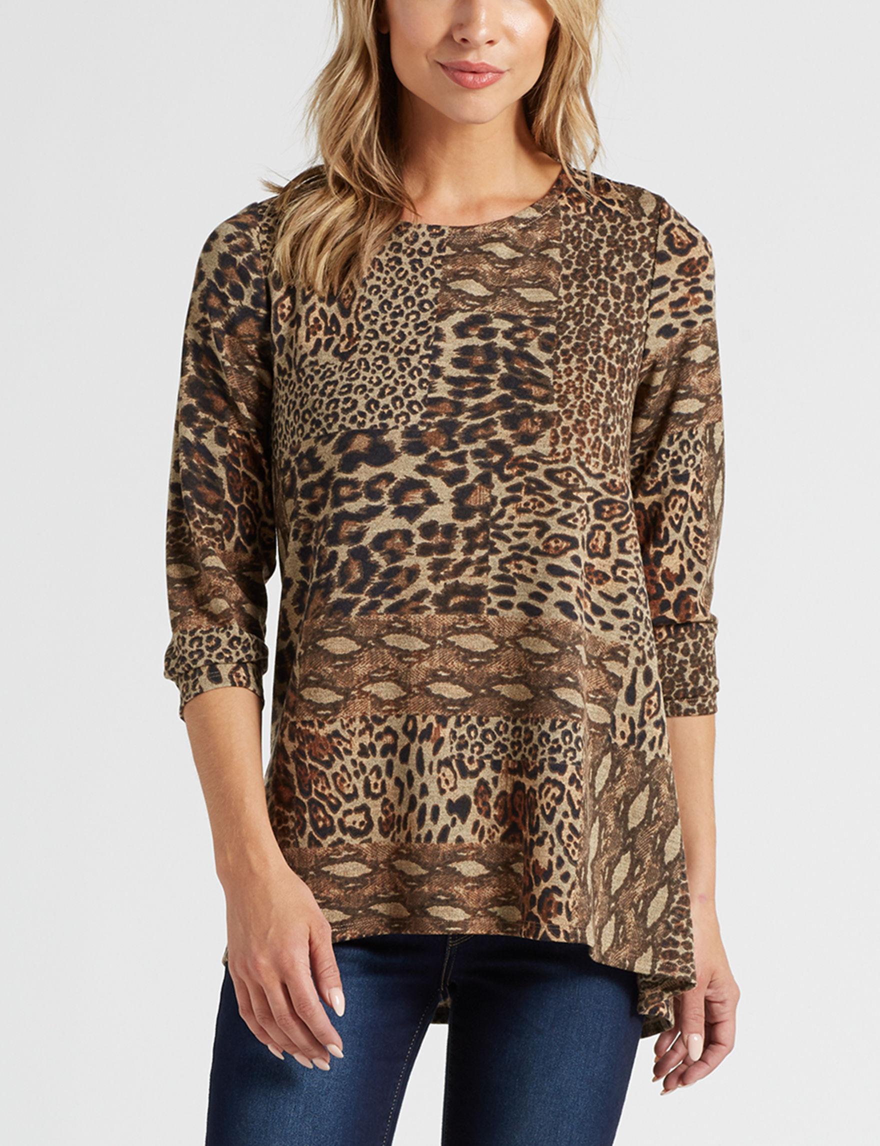 Rebecca Malone Cheetah Shirts & Blouses