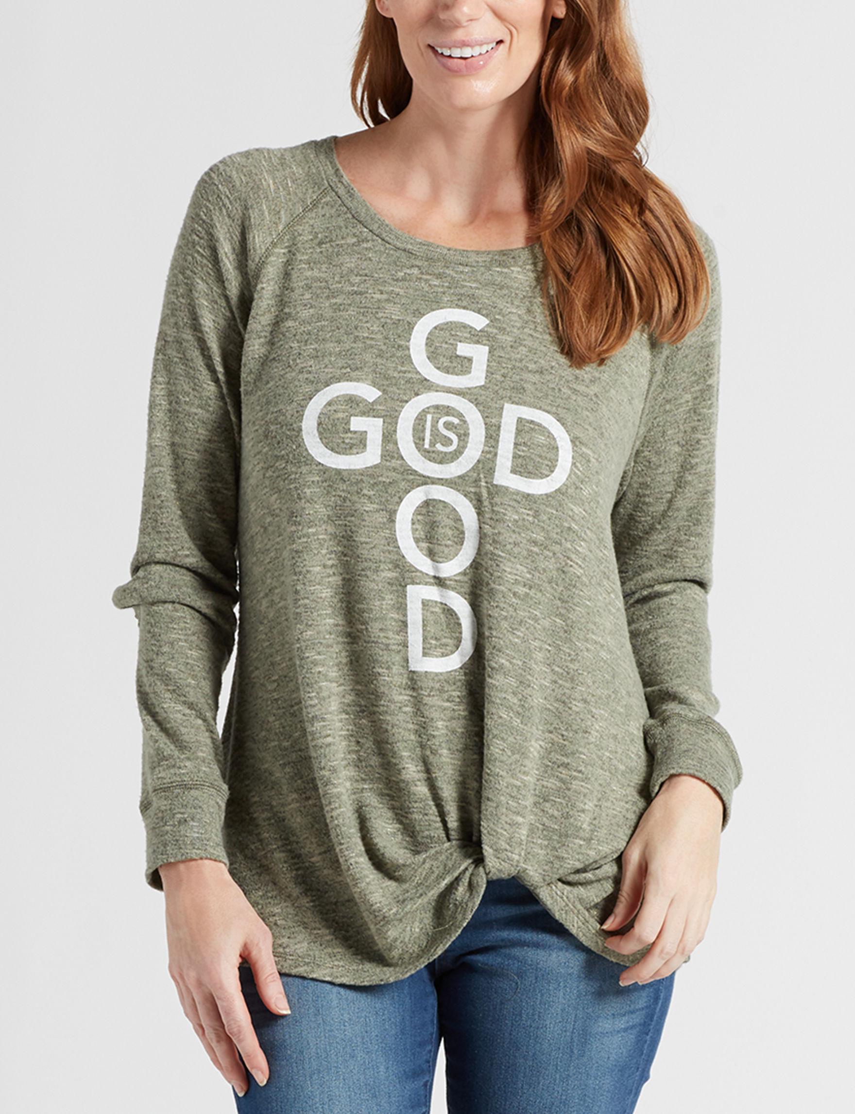 Signature Studio Green / Grey Shirts & Blouses