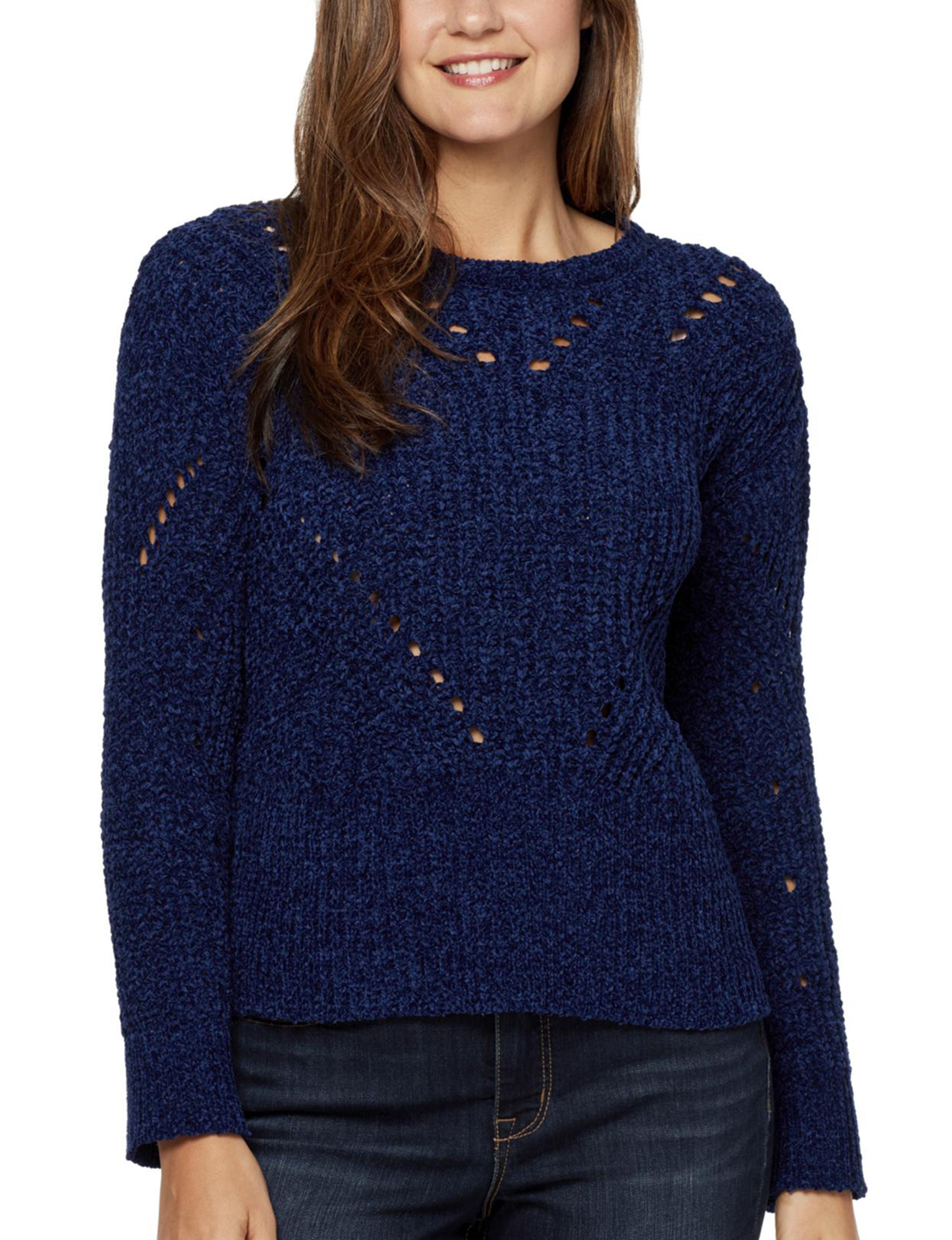 Nine West Blue Pull-overs