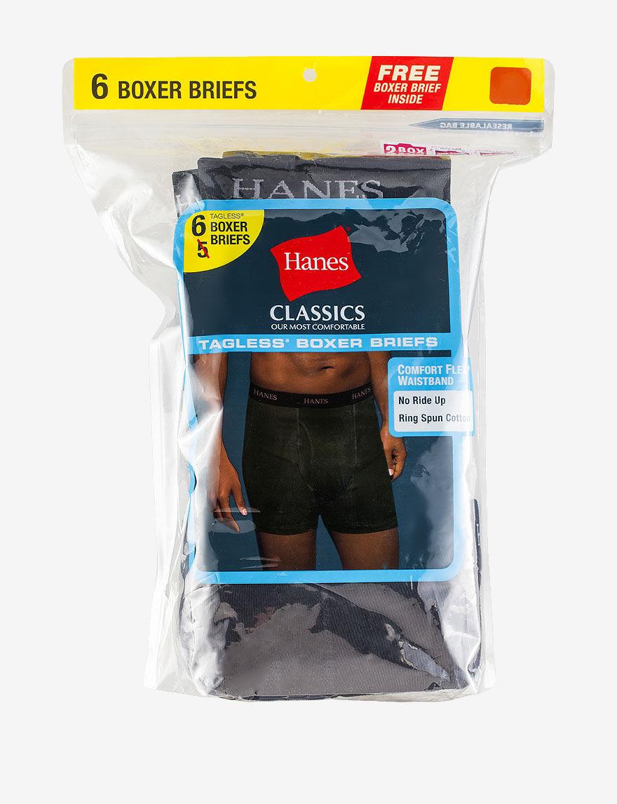Hanes Black Boxer Briefs
