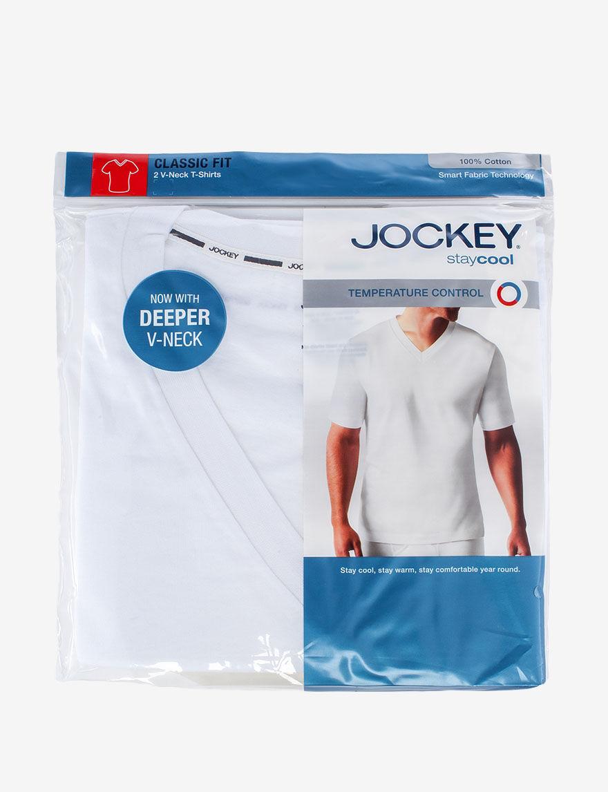 Jockey White Undershirts