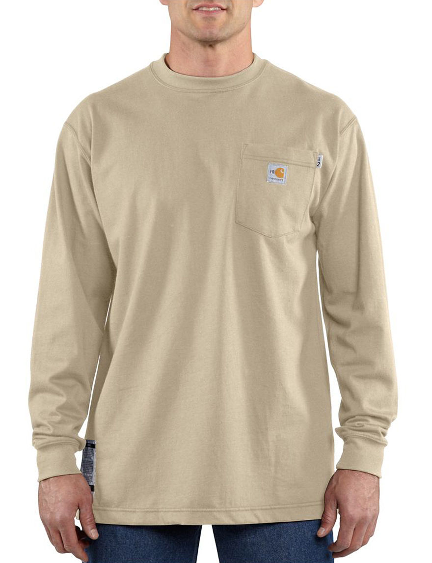 Carhartt Sand Tees & Tanks Flame Resistant