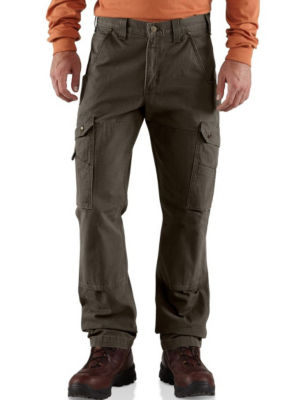 Carhartt Mens Big  Tall Cotton Ripstop Relaxed Fit Work Pants Black 44 X 30 Carhartt
