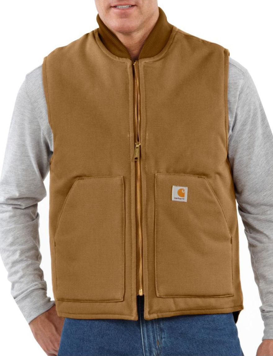 Carhartt Brown Vests