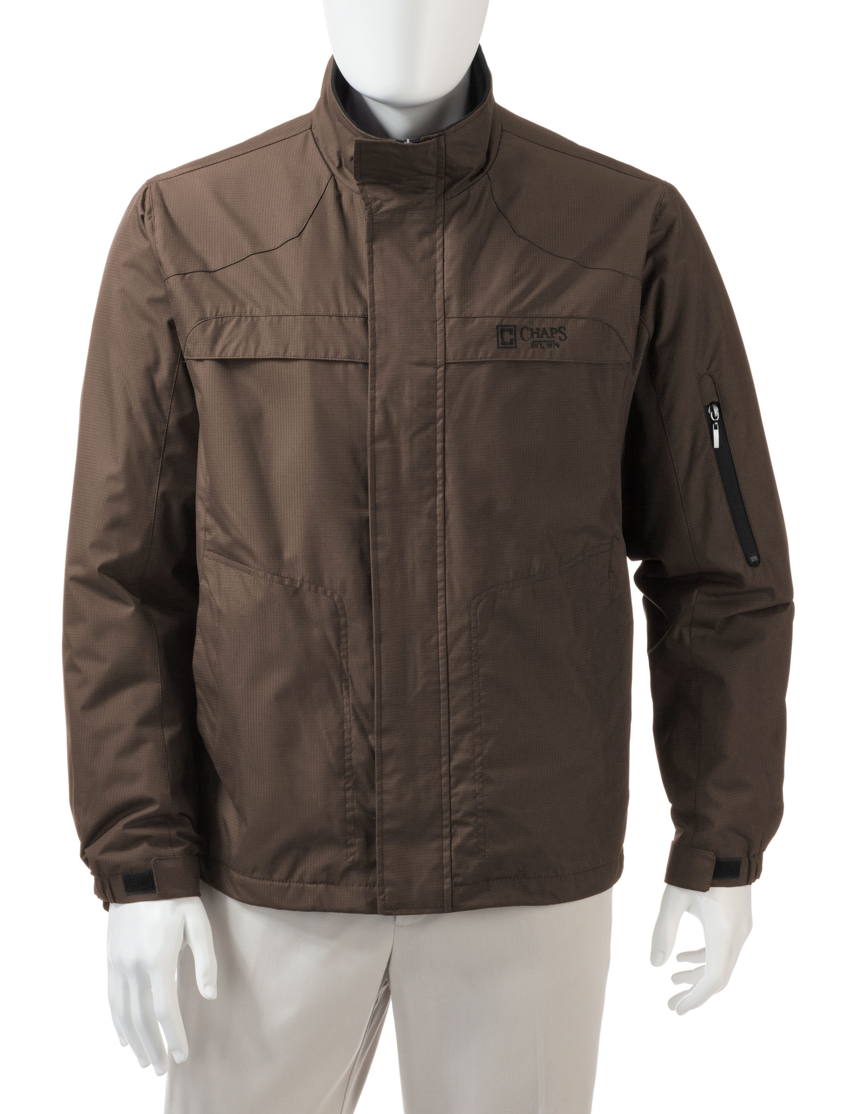Chaps Chocolate Insulated Jackets