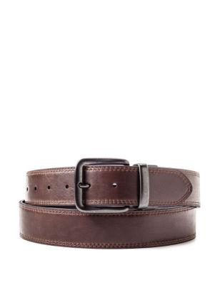 Levis Mens Big  Tall Leather Reversible Belt Black / Brown 50 Levis