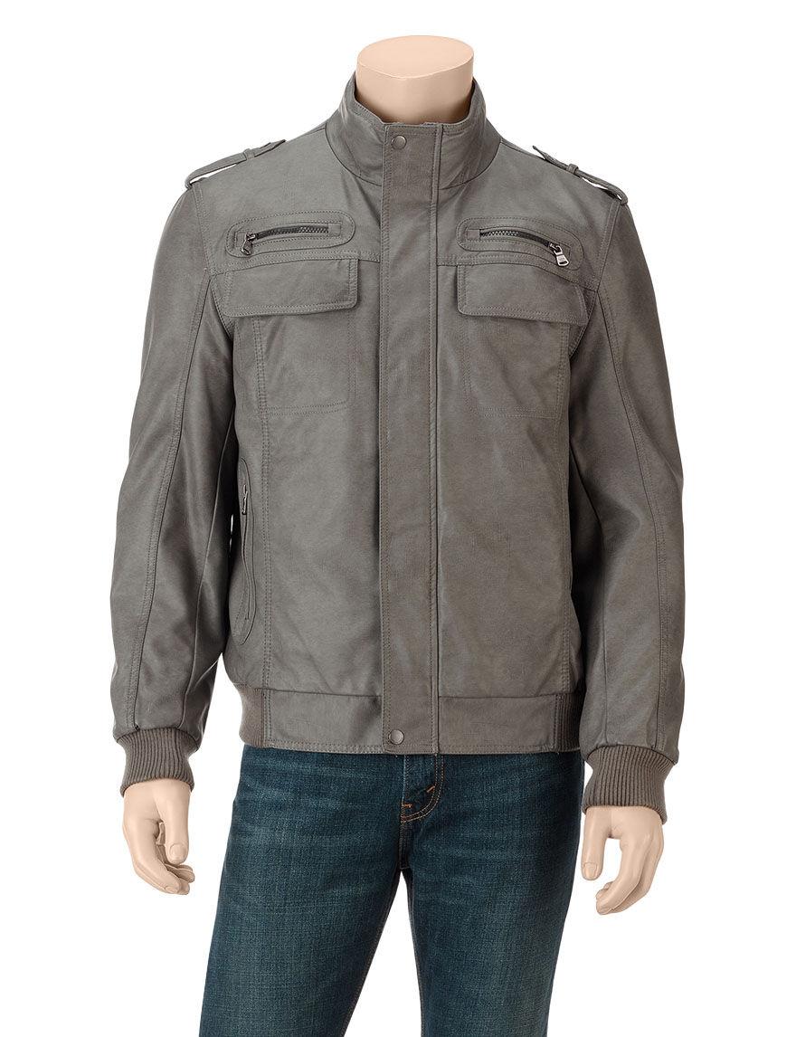 Calvin Klein Grey Bomber & Moto Jackets