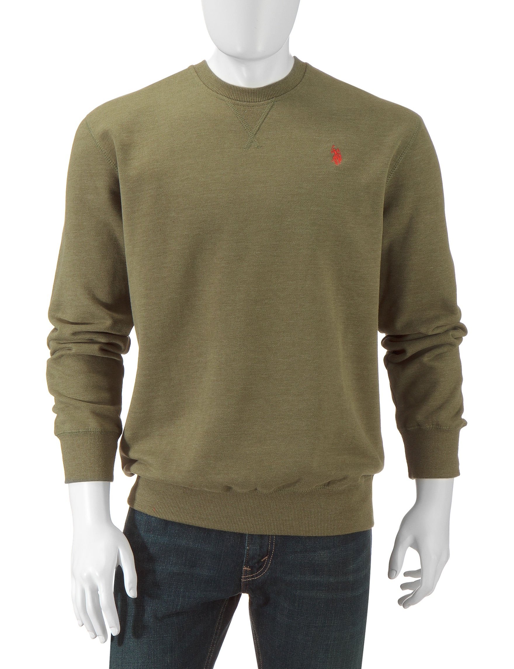 U.S. Polo Assn. Olive Pull-overs