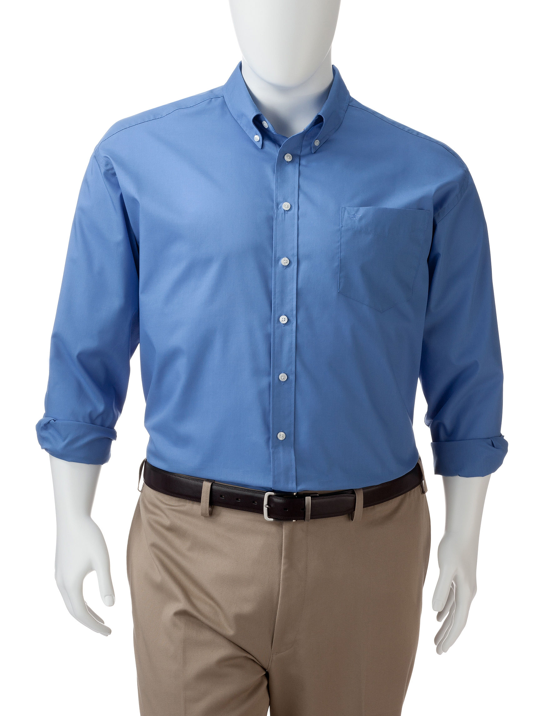 Dockers Light Blue Casual Button Down Shirts